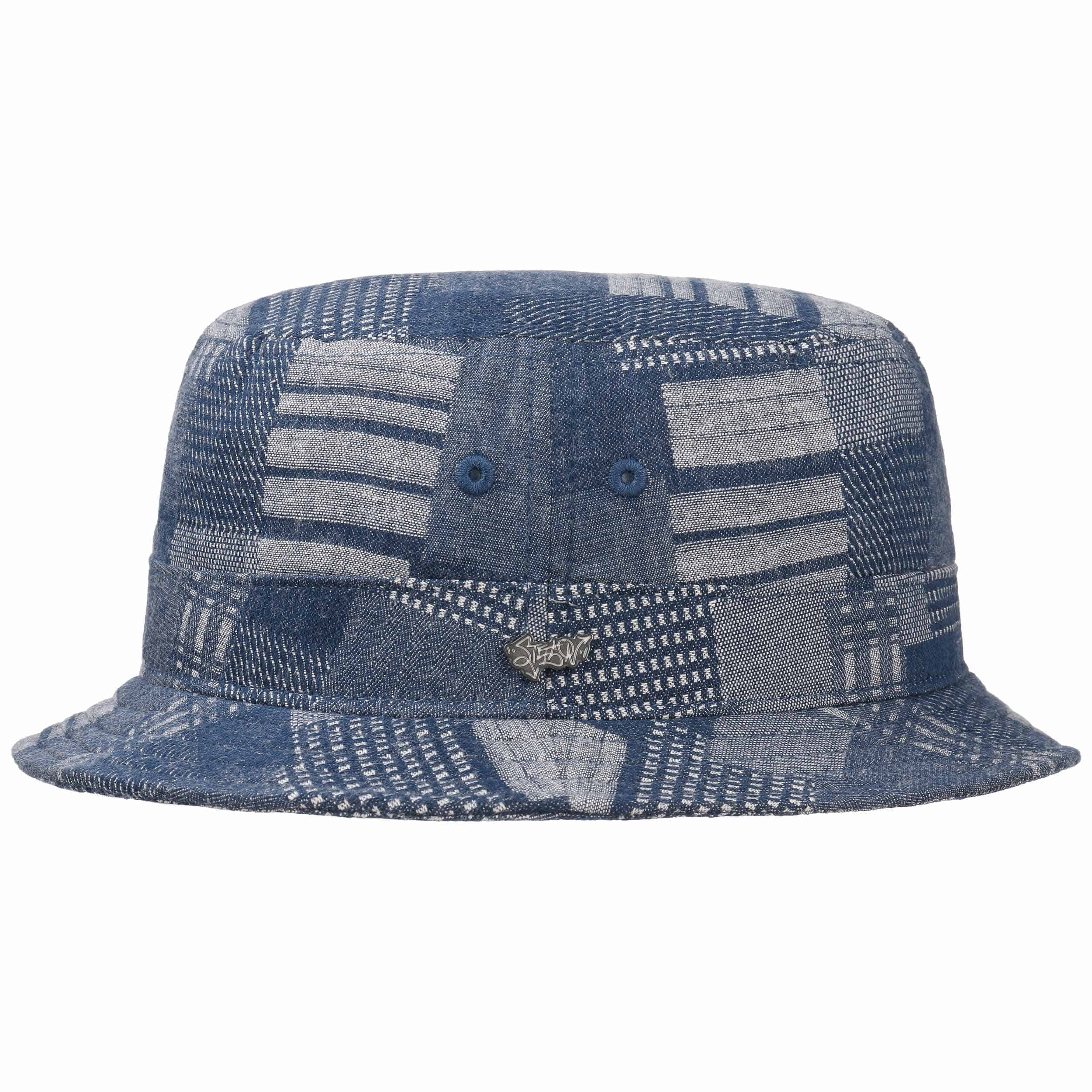 Denim Patchwork Bucket Hat. by Stetson 2a100ec525e