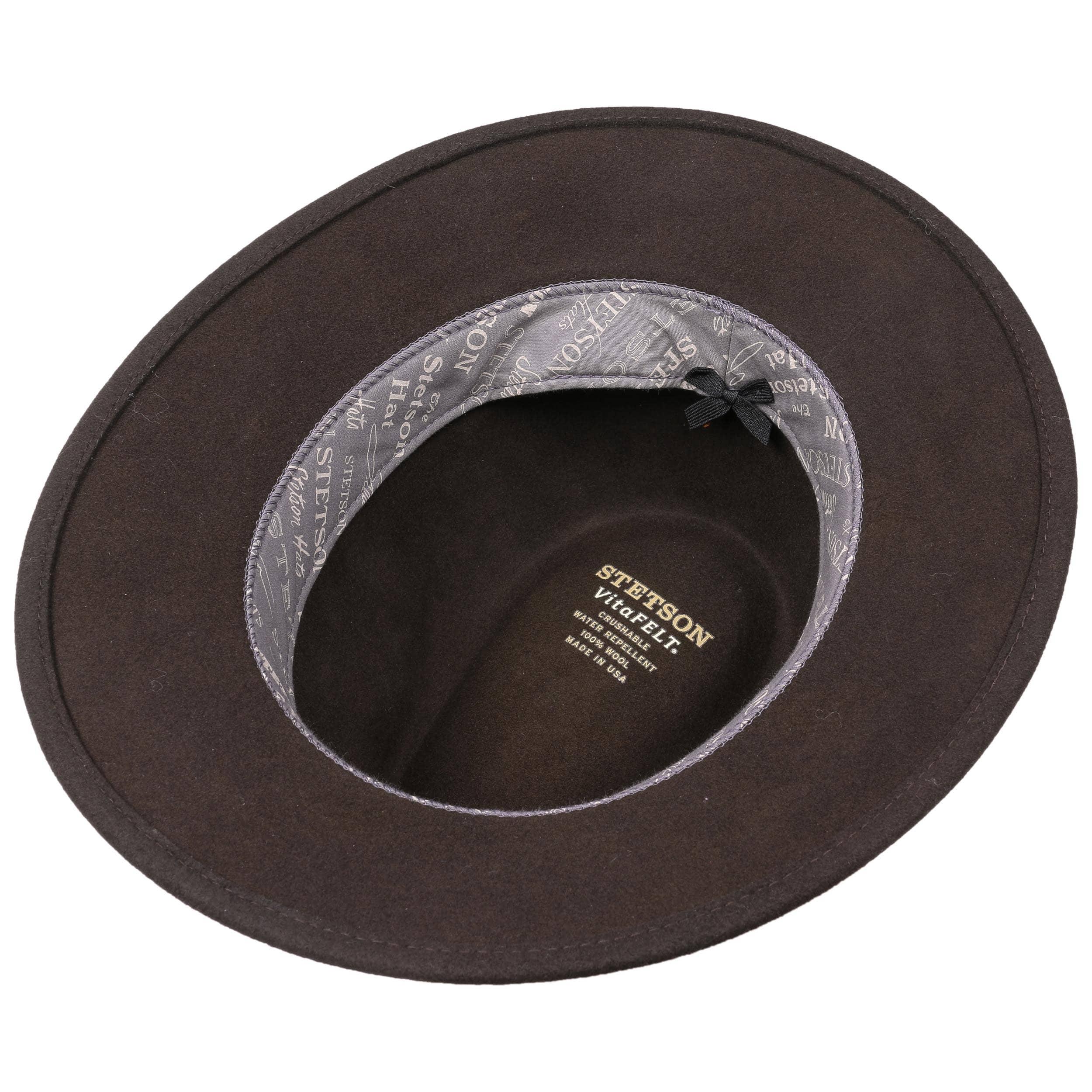 5eee05f7953 Devanell traveller vitafelt hat stetson dark brown jpg 2500x2500 Stetson  crushable felt hats