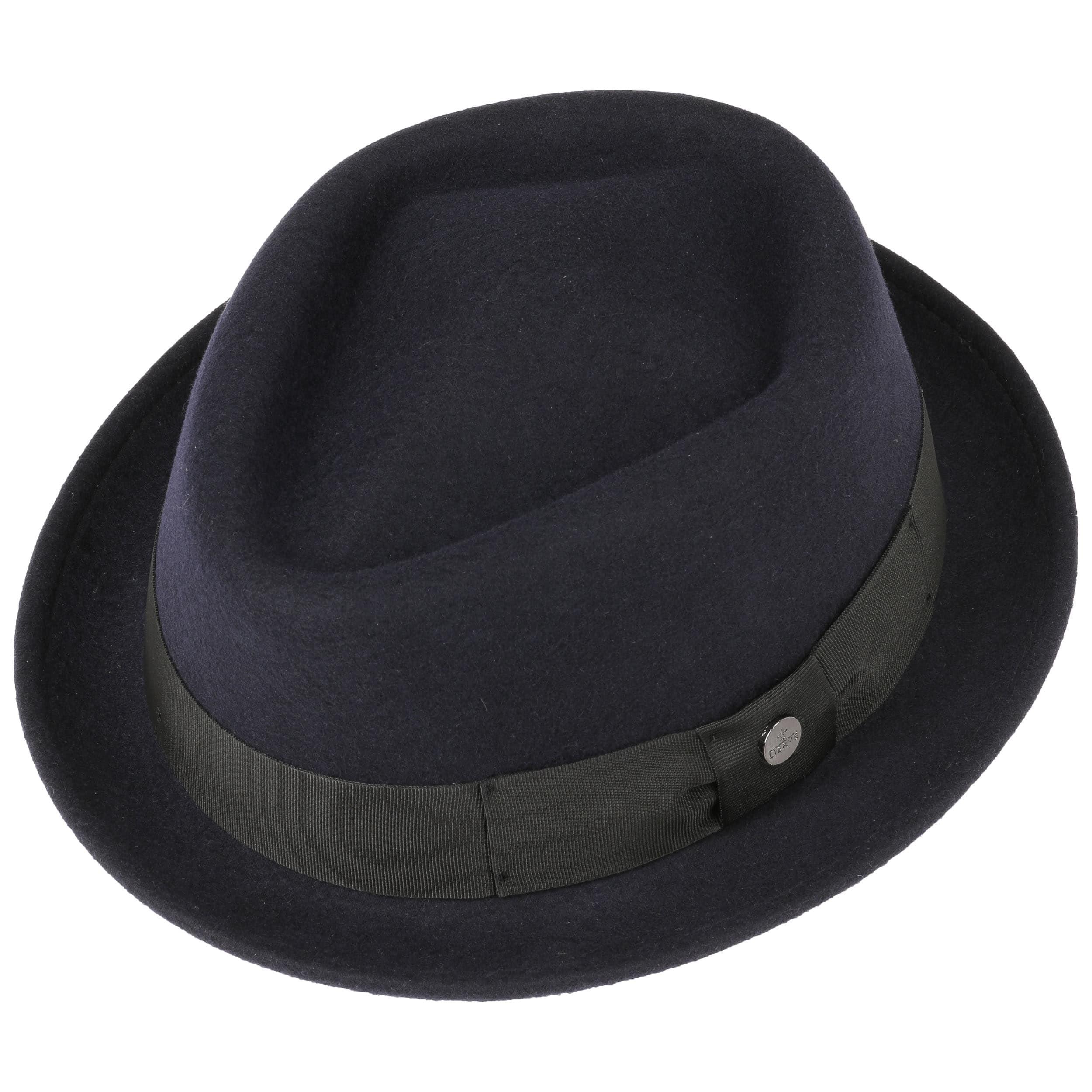 Diamond Crown Wool Felt Hat by Lierys Pork pie hats Lierys xJ90oWtgH