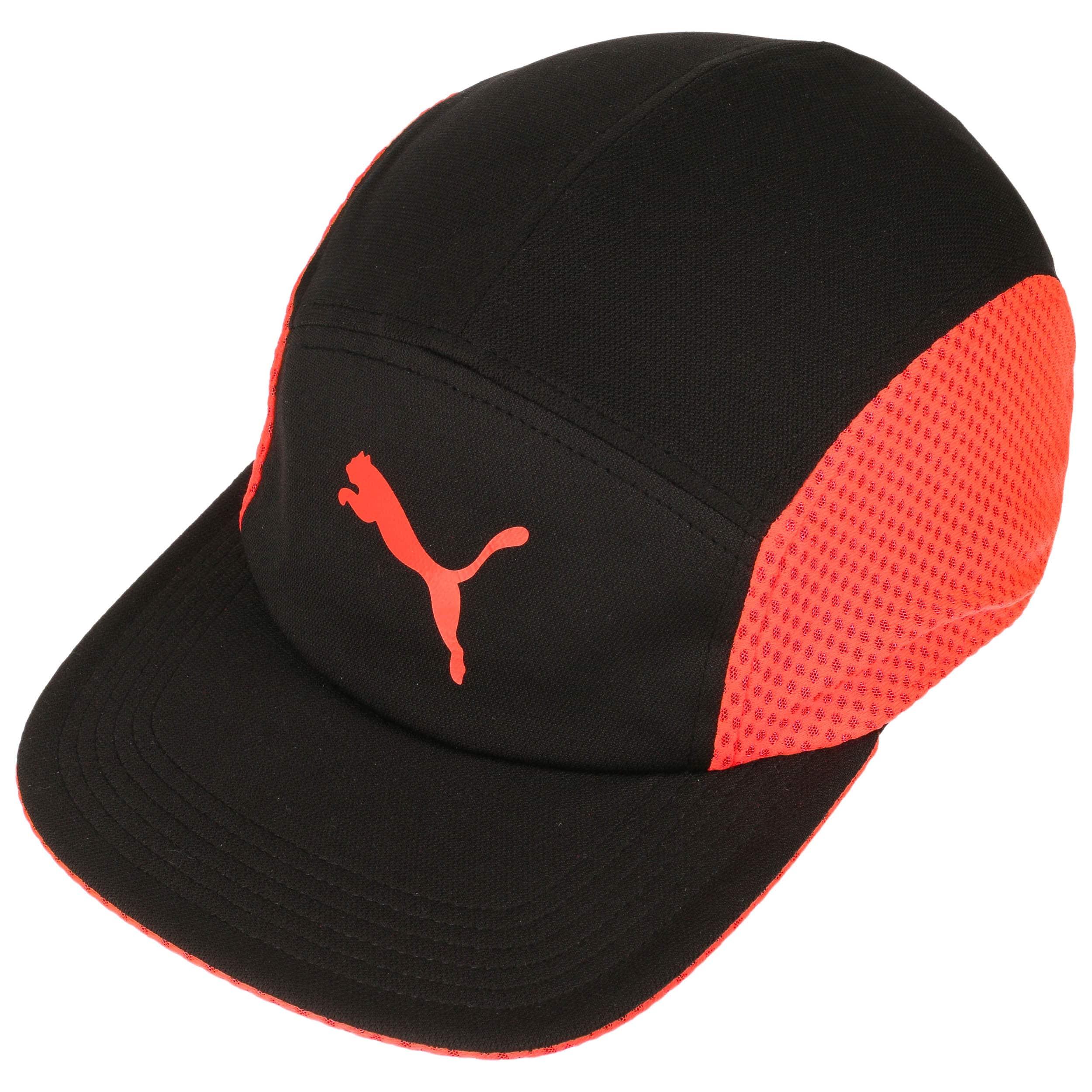 354e052dc51 Disc-Fit Runner Cap by PUMA - black-red 1 ...