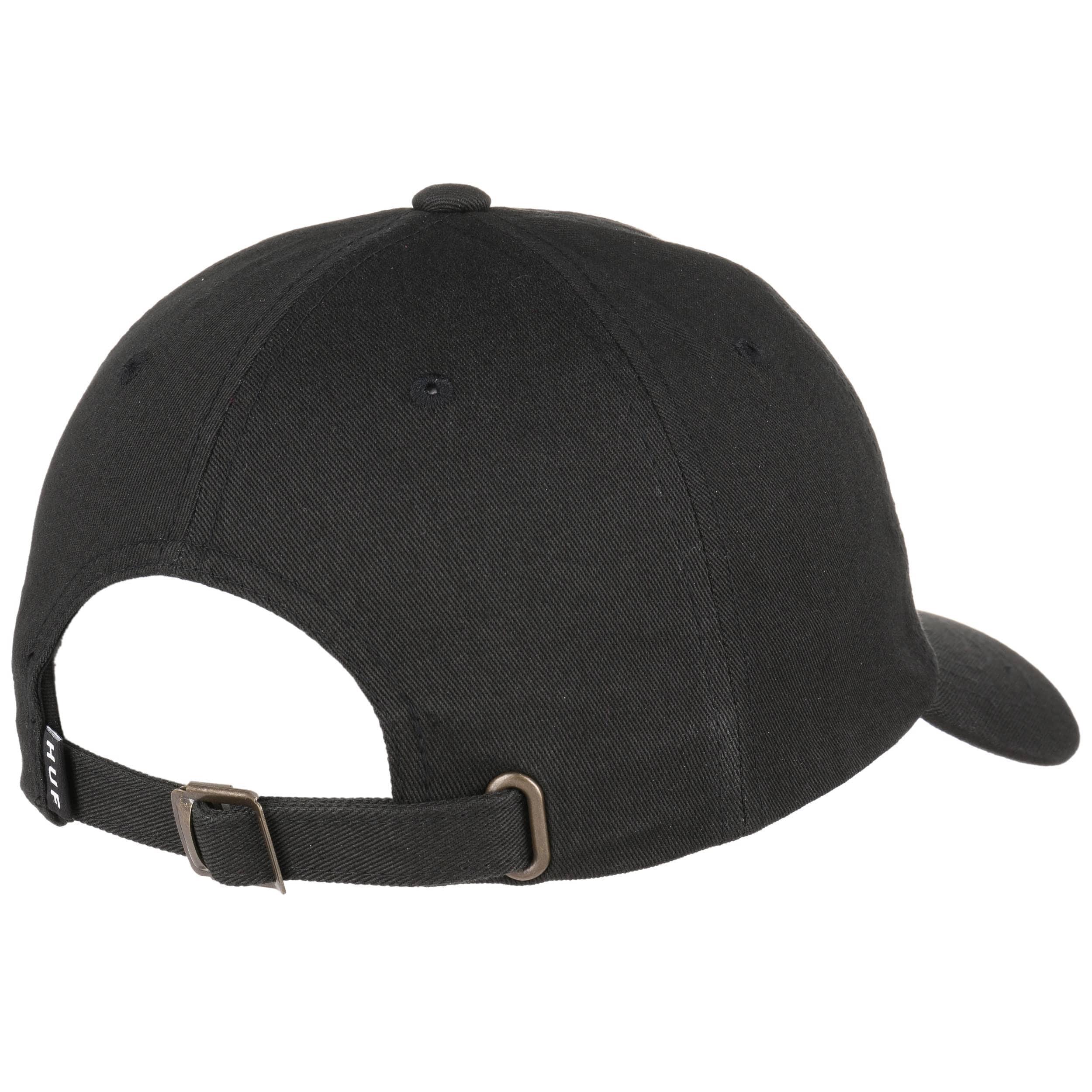 ... Domestic Box Logo Strapback Cap by HUF - black 1 ... 9dff8ecd41e