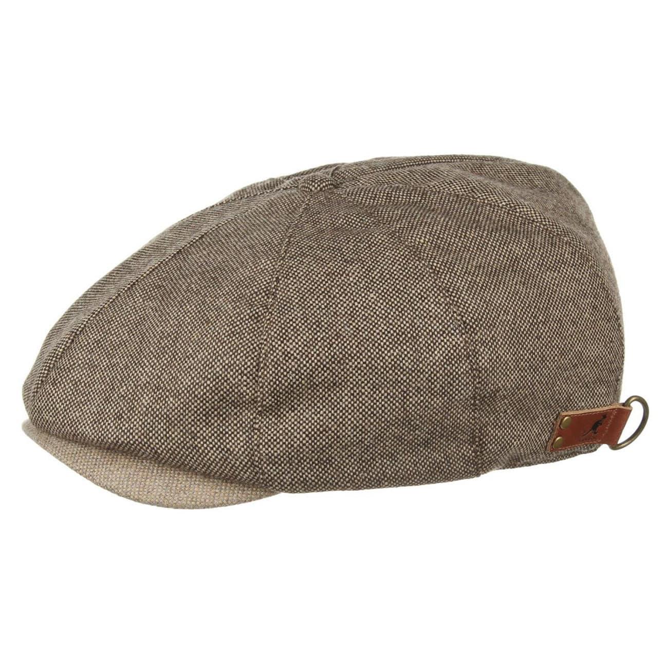 Donegal Ripley Tweed Flat Cap by Kangol - brown 1 ... 6e3df53493f