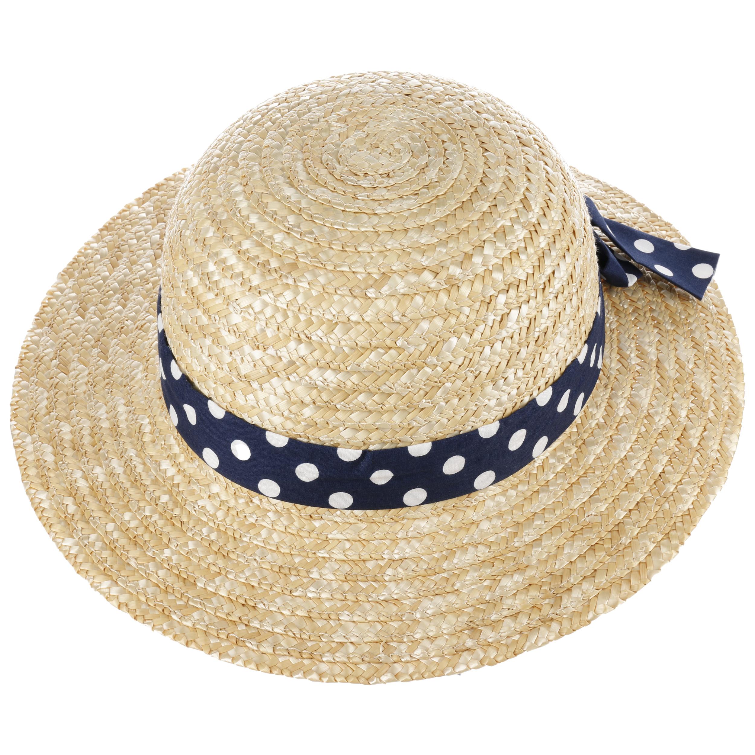388b4cc4274 Dotted band girls straw hat maximo hats caps jpg 2500x2500 Girls straw  fedora