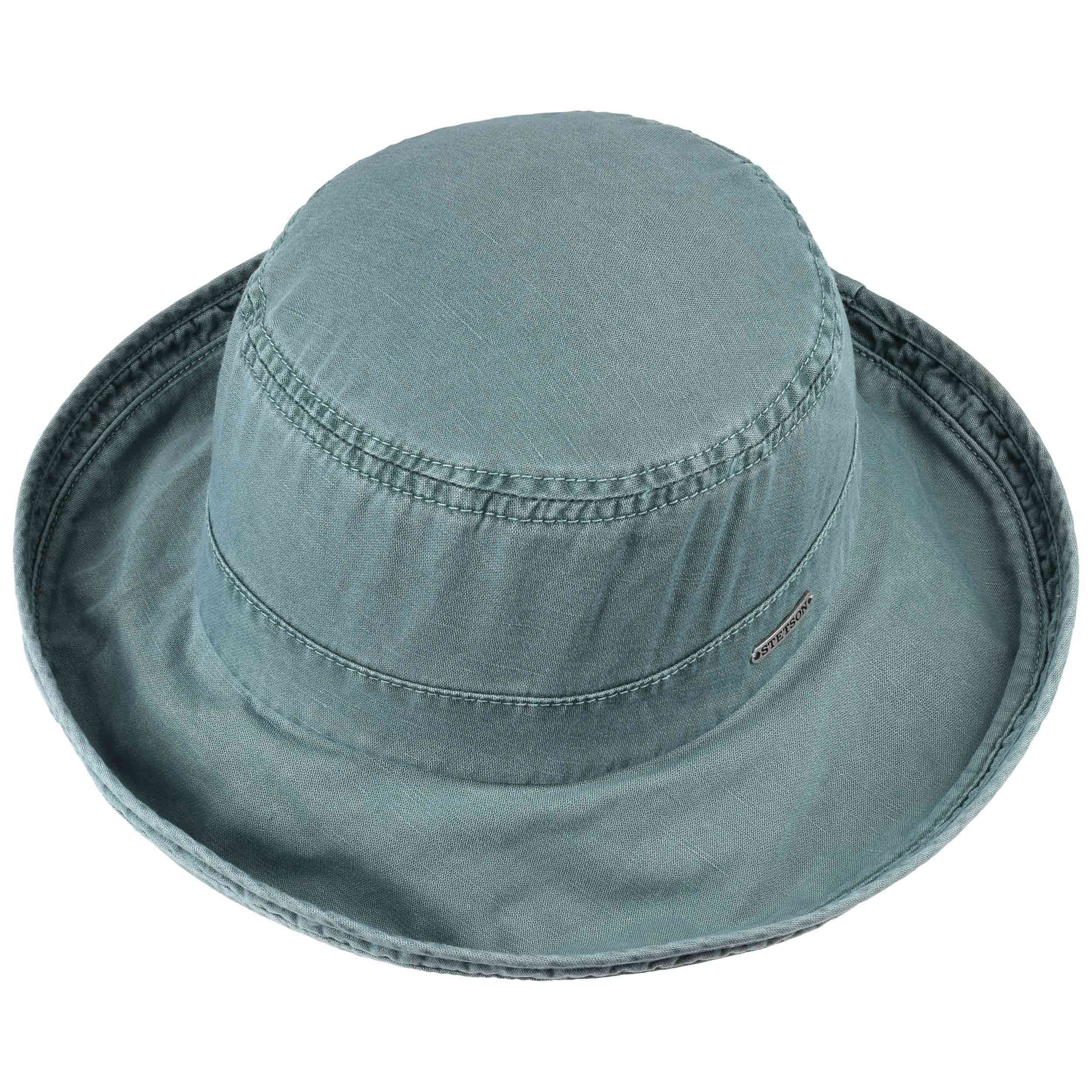 ... Dyed Cotton Floppy Hat by Stetson - navy 1 ... 0d1c4d88180