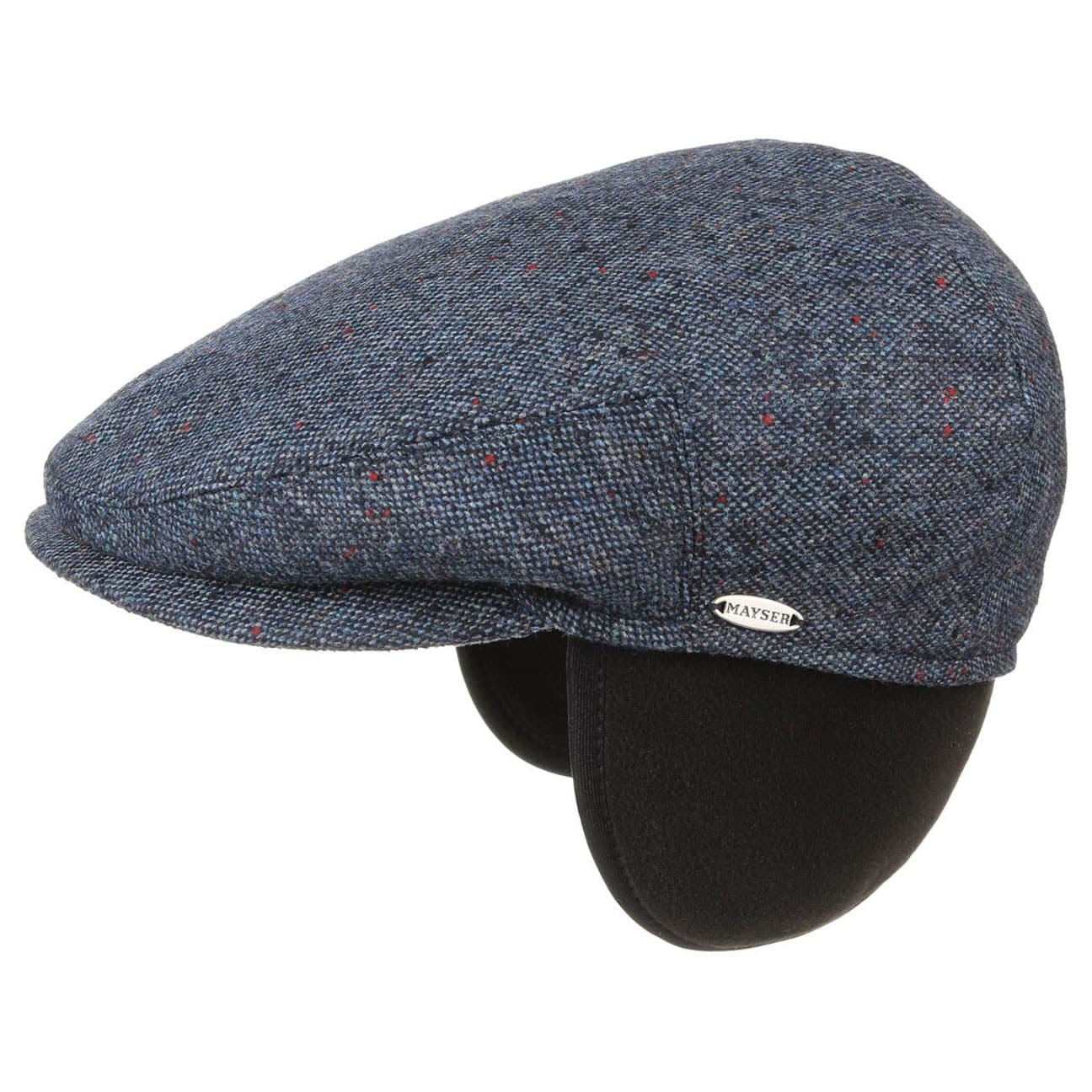 ... Earflaps Tweed Flat Cap by Mayser - blue 1 2ac6fec732c