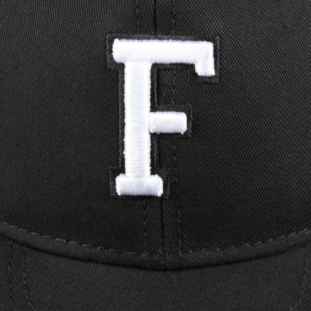 ... F Letter Snapback Cap - black 4 ... 503c3d27eb6