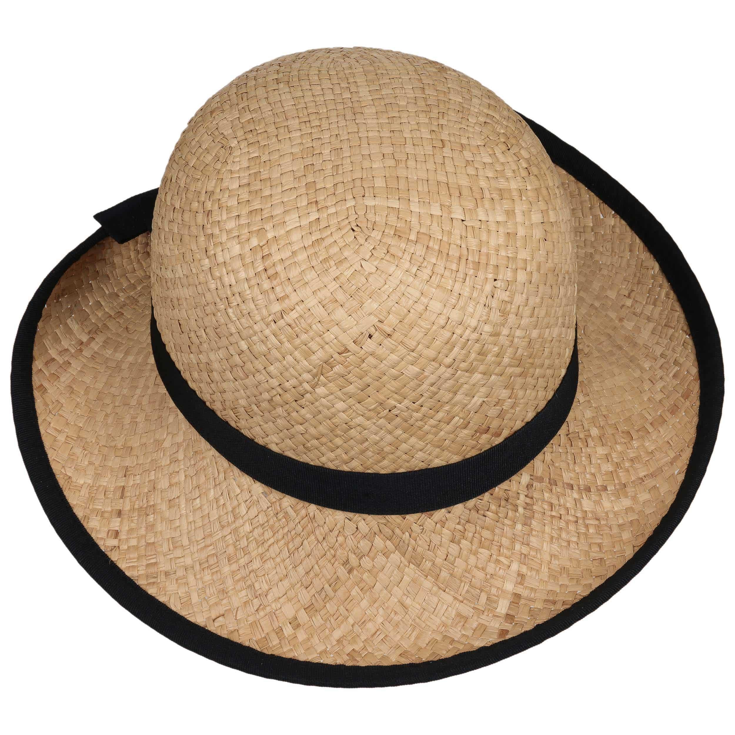 Fanamia Women´s Raffia Hat by bedacht - nature-blue 1 ... 21ea7ada8839