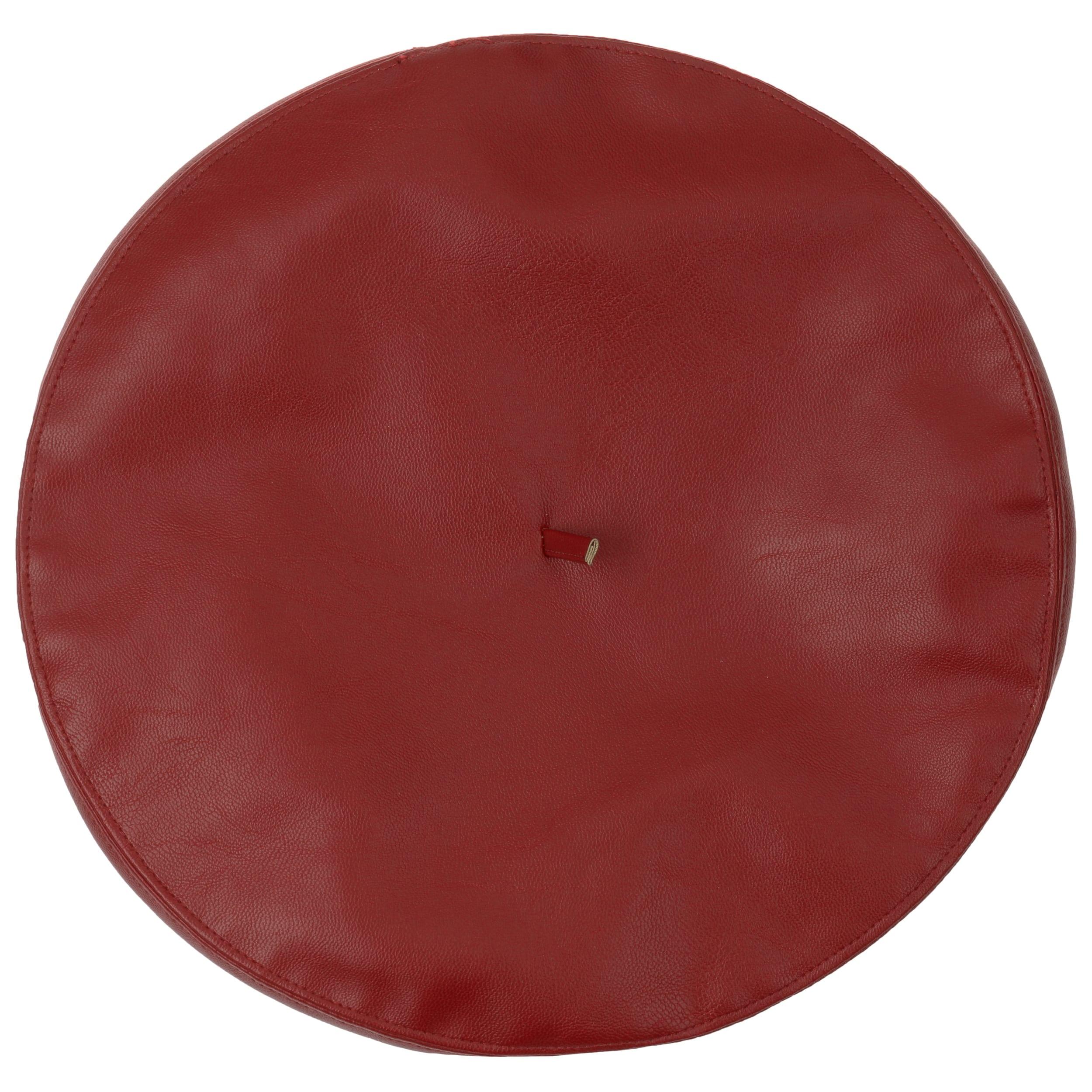 d1e281691bb7b Faux Leather Beret by Lipodo - bordeaux 1 ...