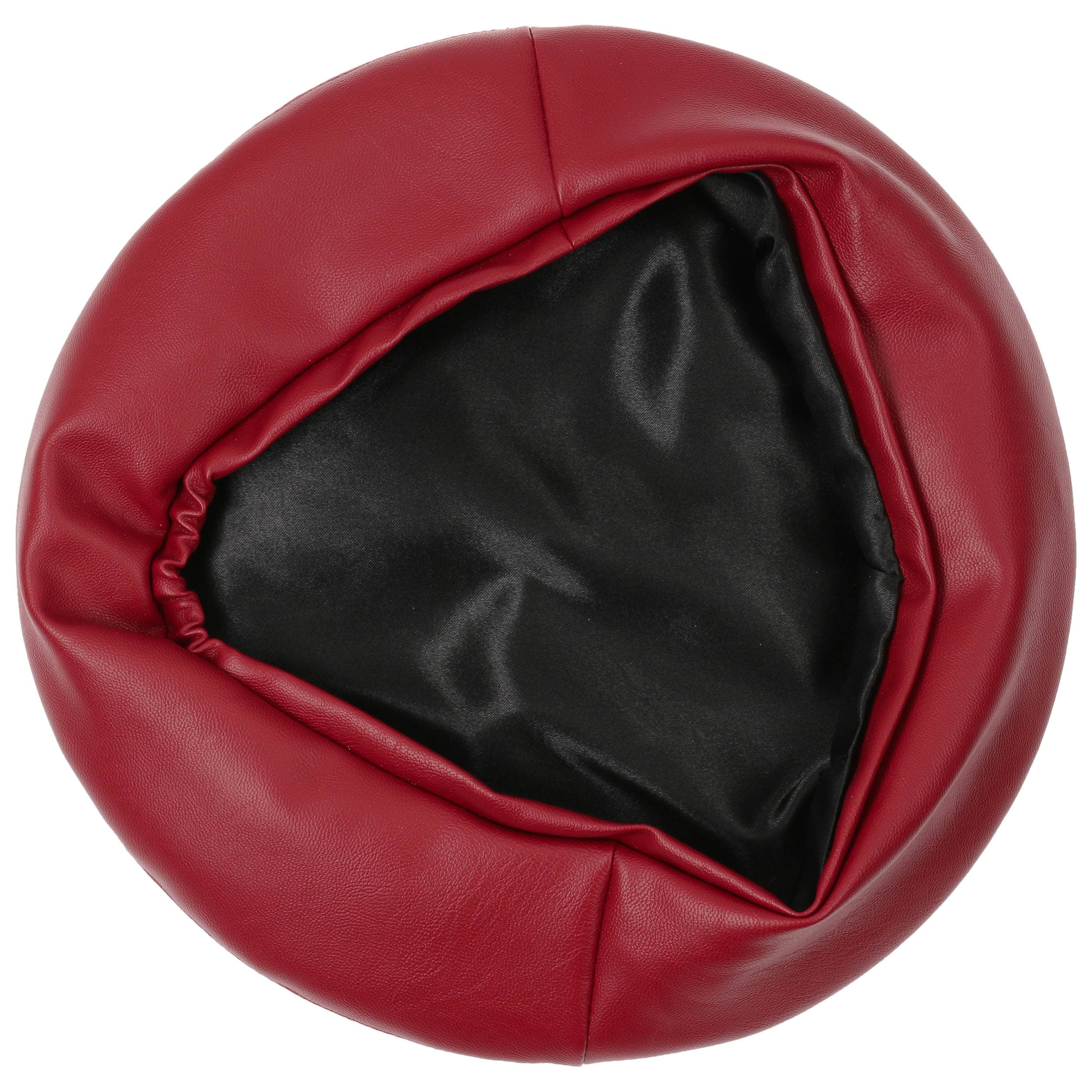 b23bc89df71a1 ... Faux Leather Beret by Lipodo - bordeaux 2 ...