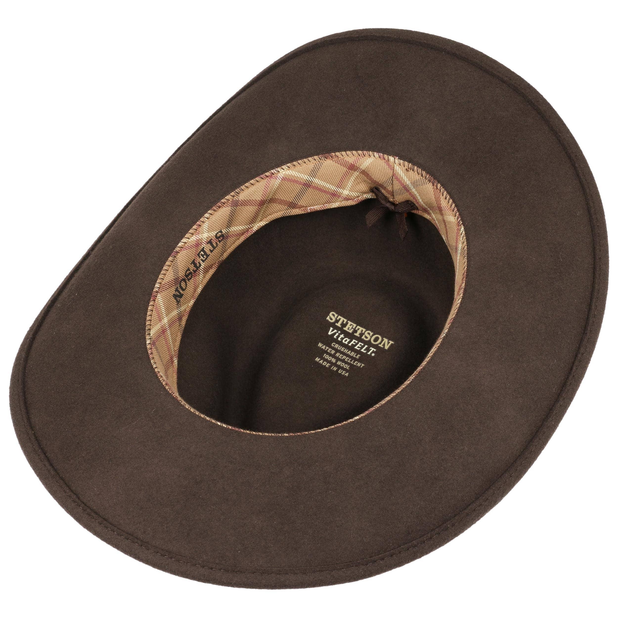 ... Feather Trim VitaFelt Hat by Stetson - brown 2 ... 5d51b1f5d71