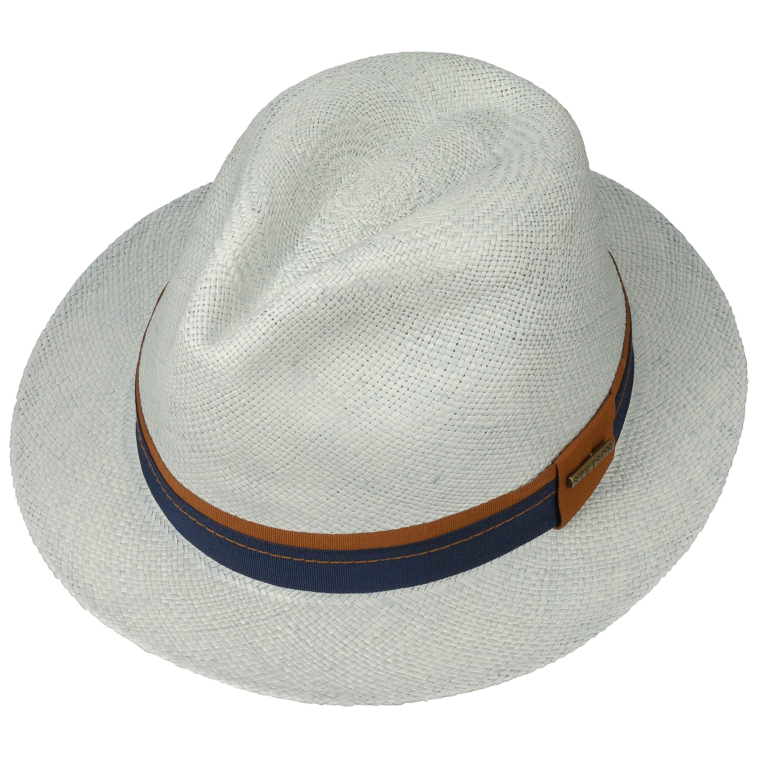 Fedora Panama Hat 1 by Stetson - light blue 1 ... fe02eea29190