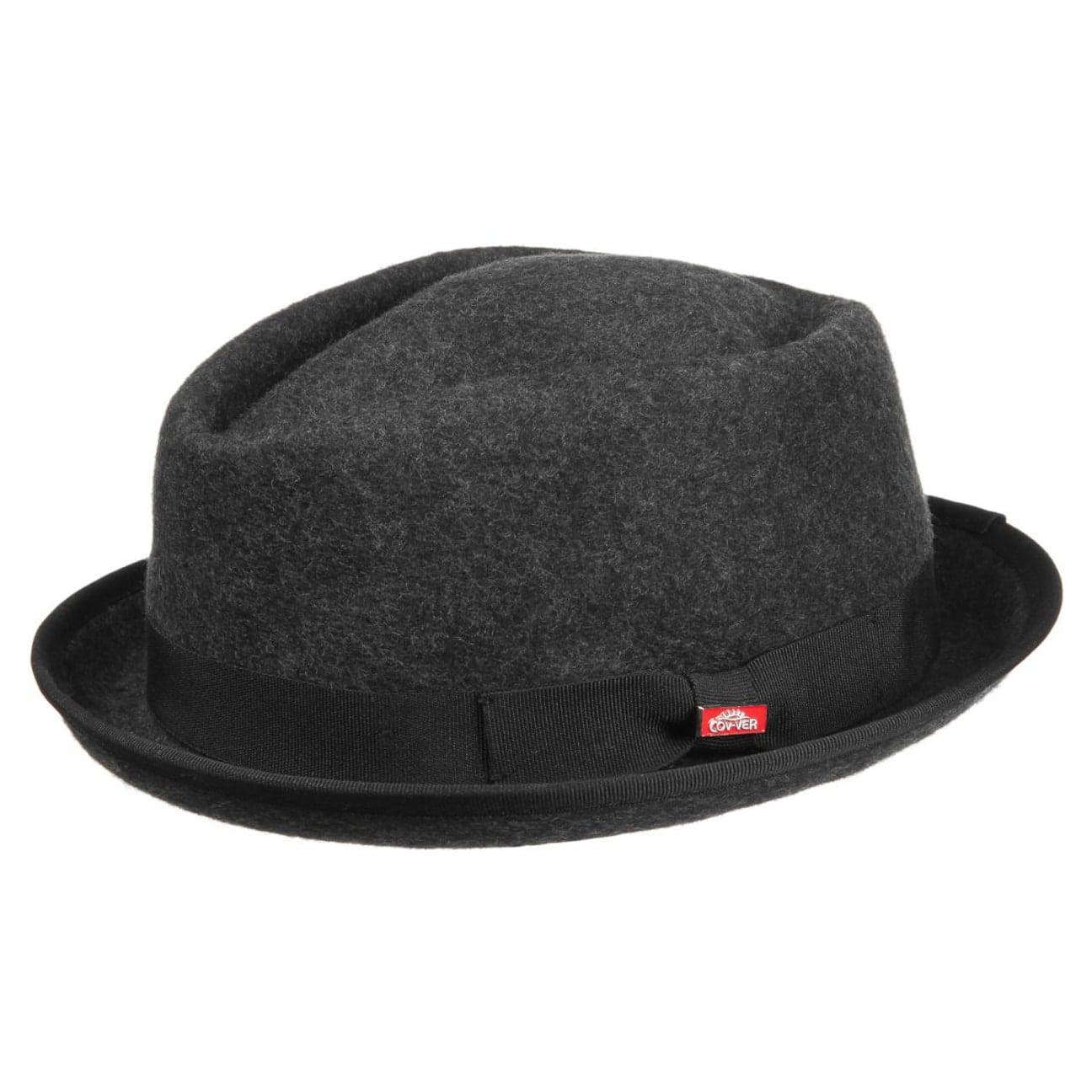 2cc28d9d69c8f ... Fedora Pork Pie Hat by Lierys - anthracite 1 ...