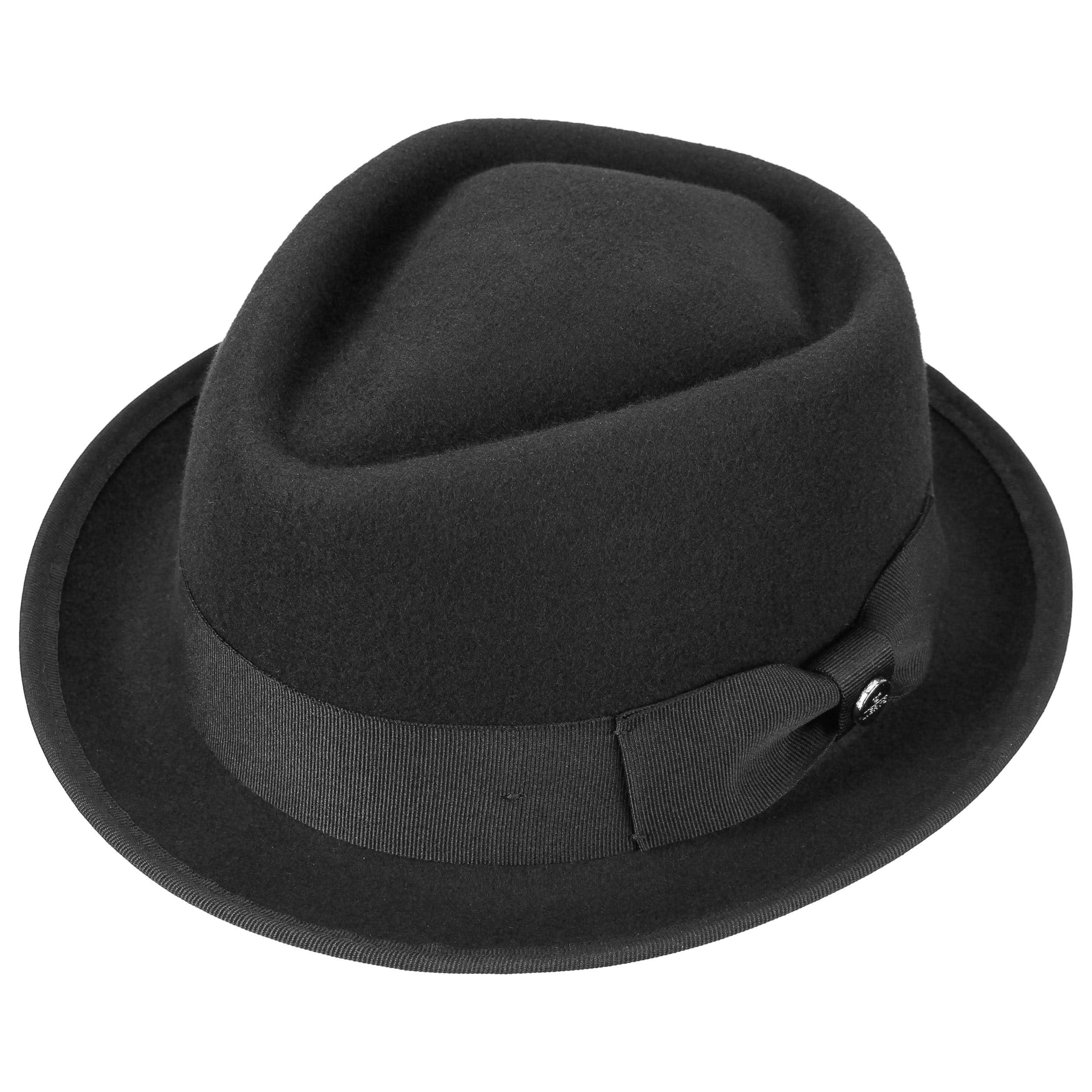 0d8a5944fcba1 ... Fedora Pork Pie Hat by Lierys - black 1 ...