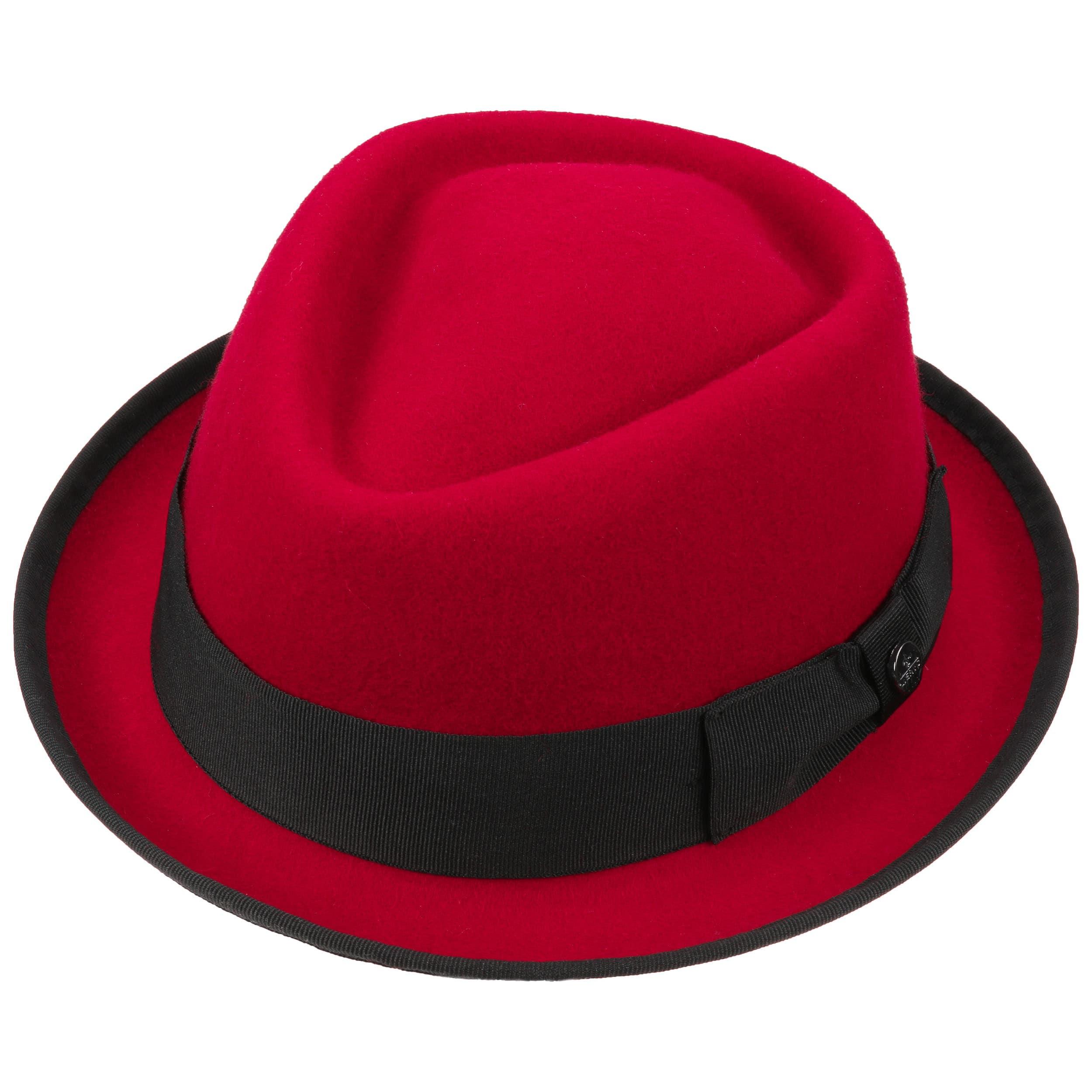 76dcf79b8fde6 ... Fedora Pork Pie Hat by Lierys - red 1 ...