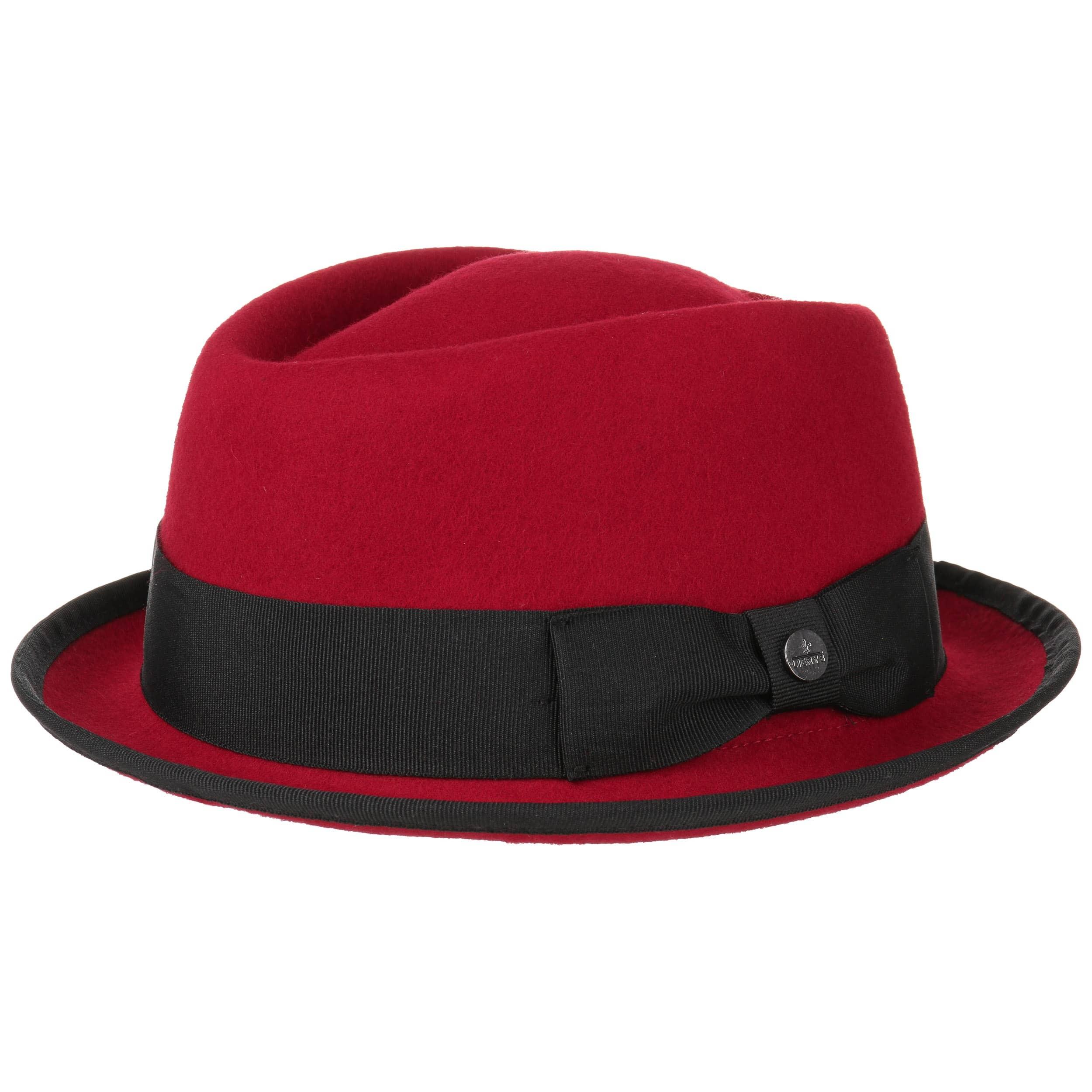 5e64b9904aabe ... Fedora Pork Pie Hat by Lierys - red 4 ...
