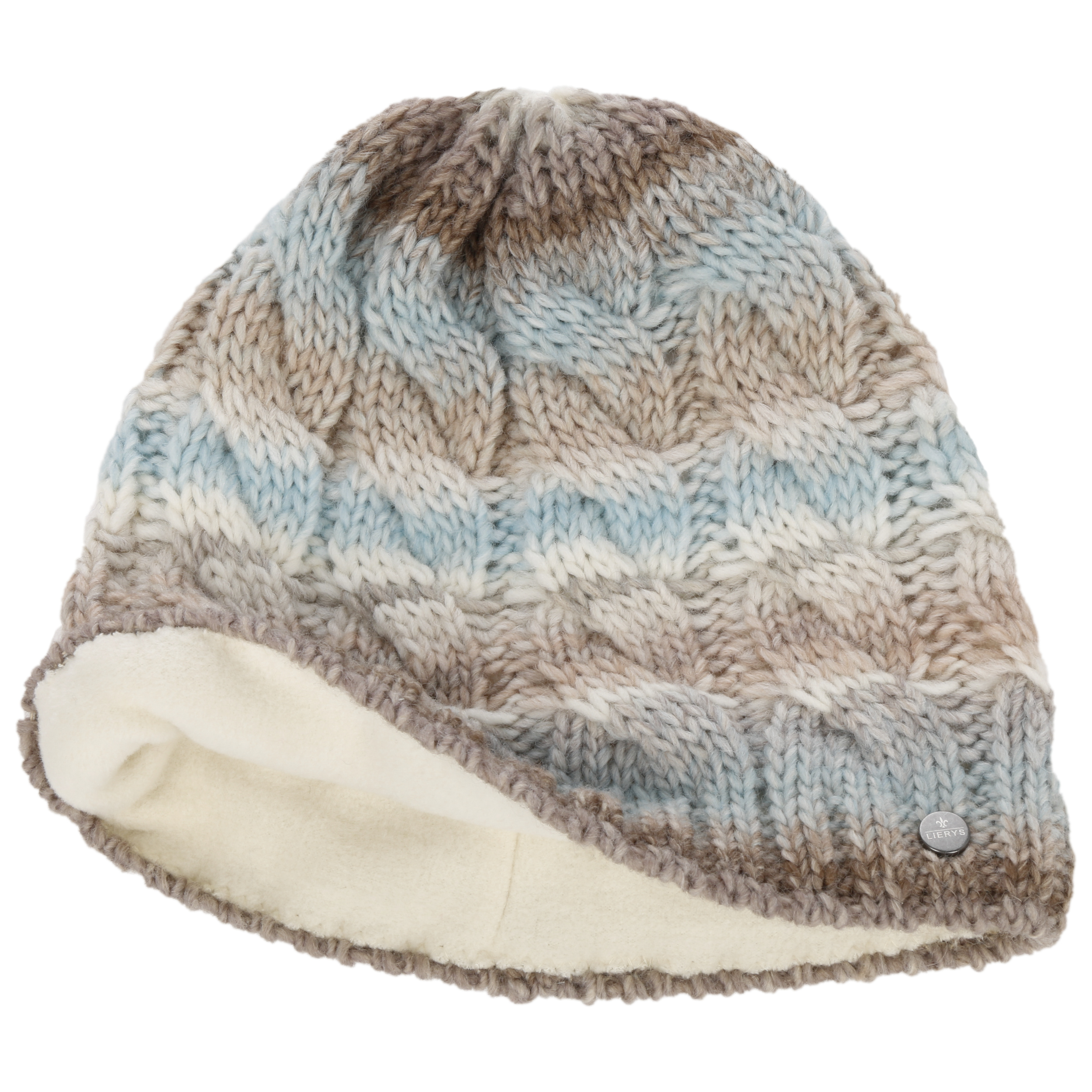 ... Filippa Cable Knit Hat by Lierys - light blue 1 ... c369daff0fa
