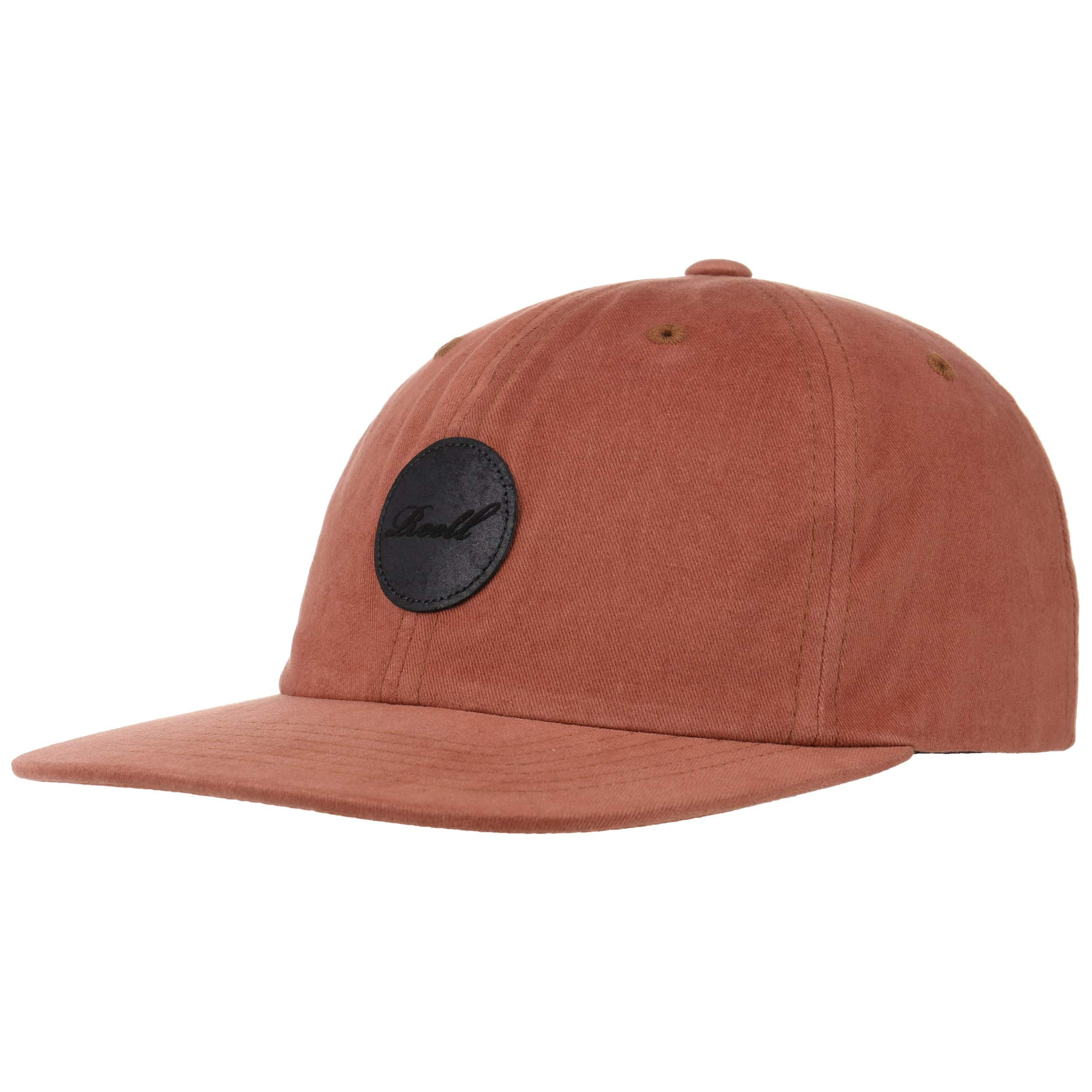 89a652661545c ... Flat 6 Panel Strapback Cap by Reell - oldrose 5 ...