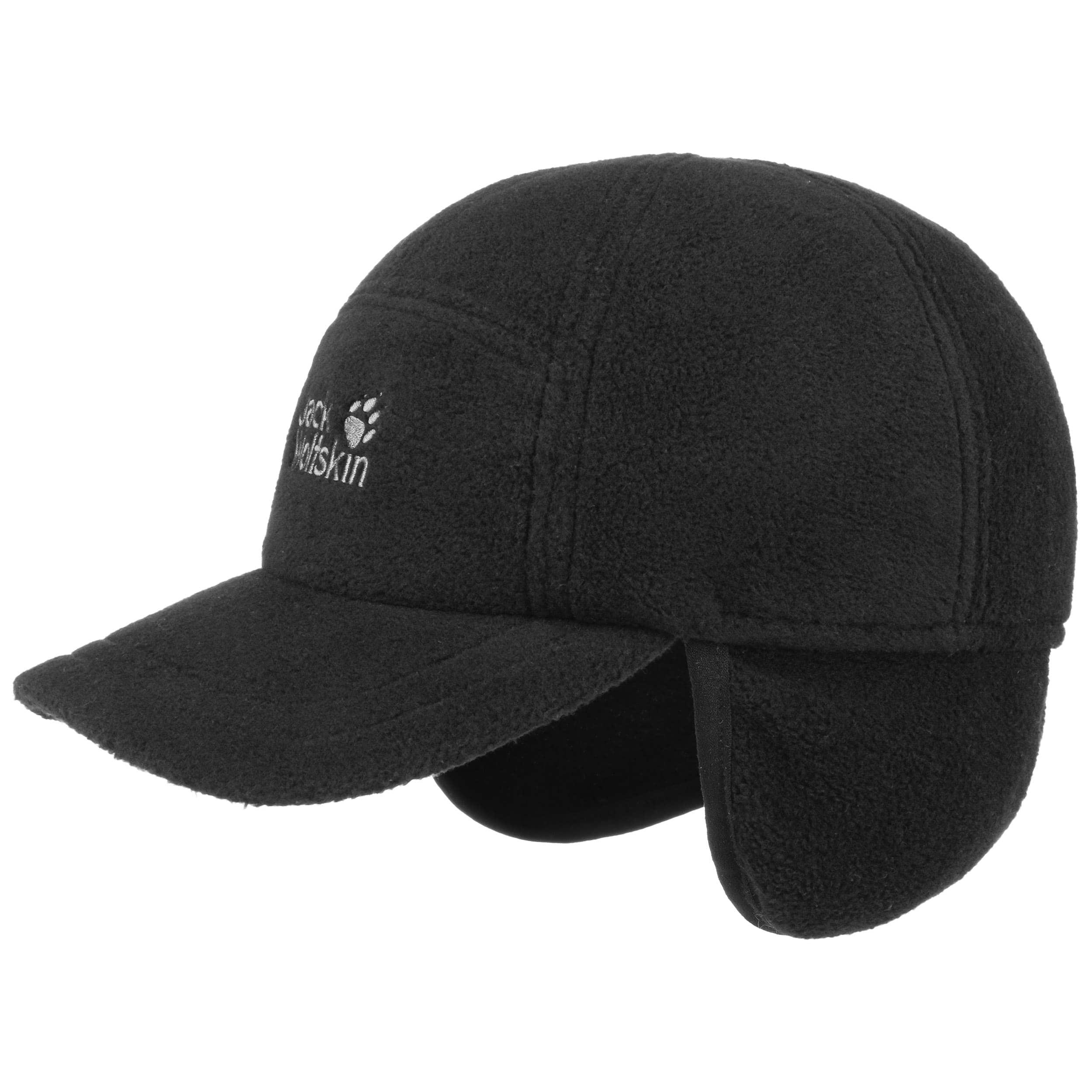 8b458254b0a ... Fleece Cap with Ear Flaps by Jack Wolfskin - black 4