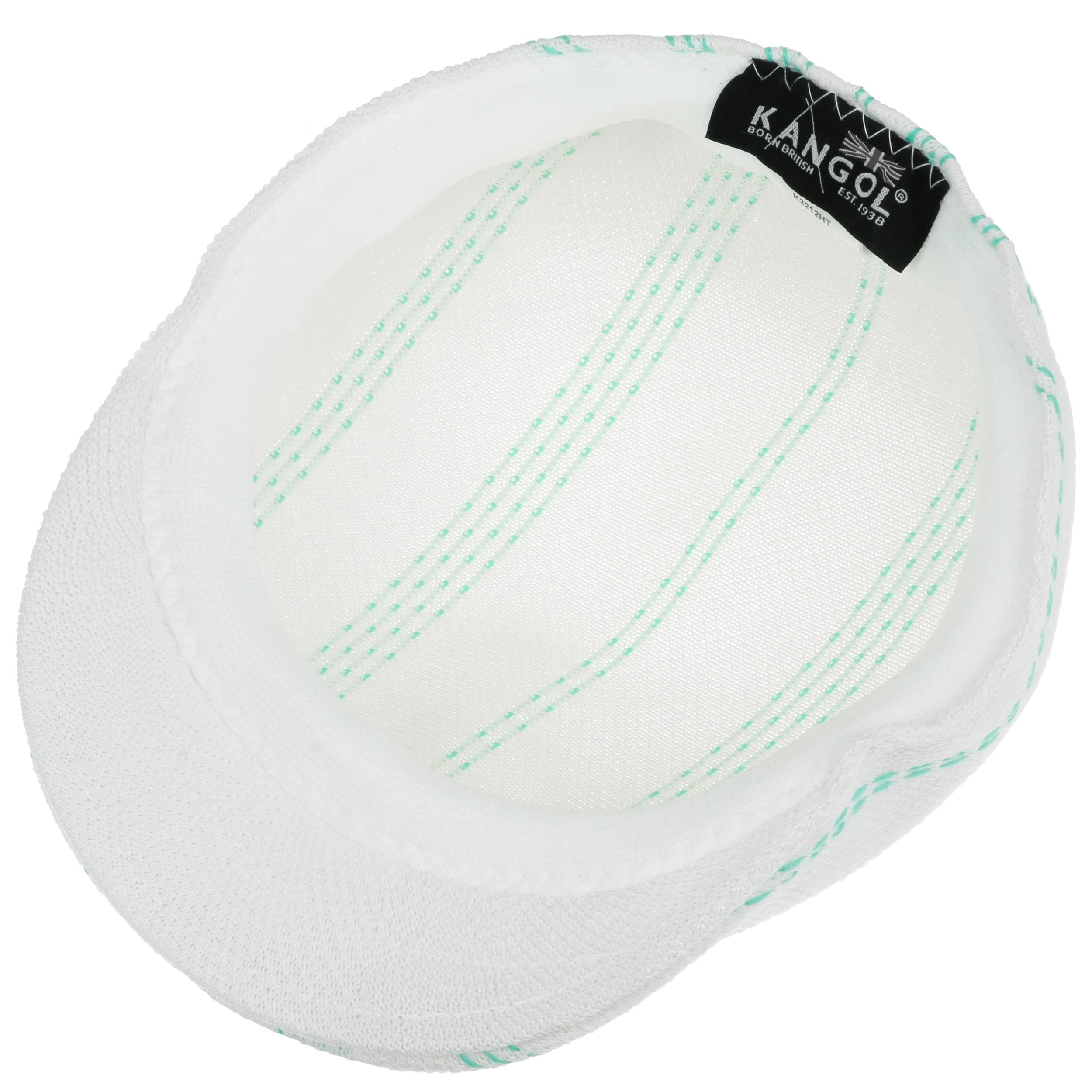 ... Float Stripe 507 Flat Cap by Kangol - white-green 2 ... 804cf41a3de