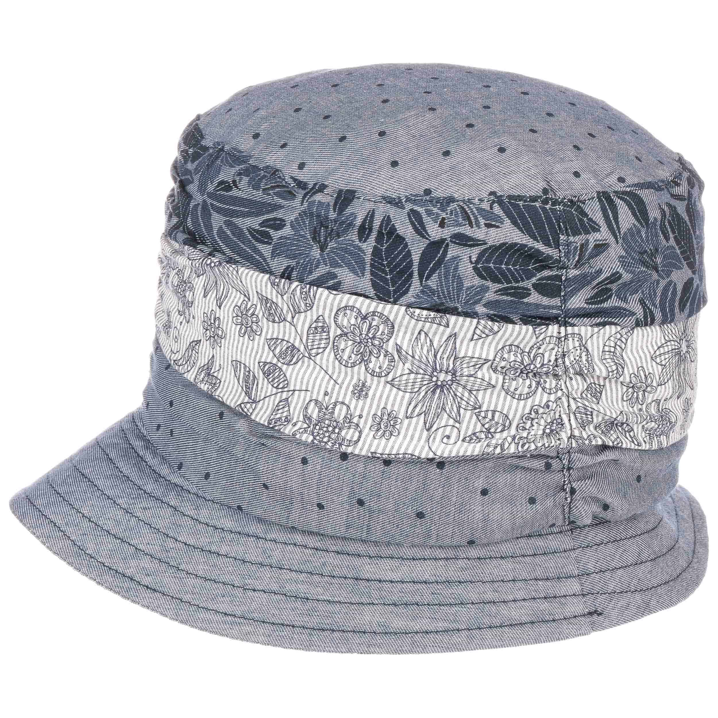 03564365628eb ... Flowers & Dots Cotton Hat by Lierys - blue 3 ...