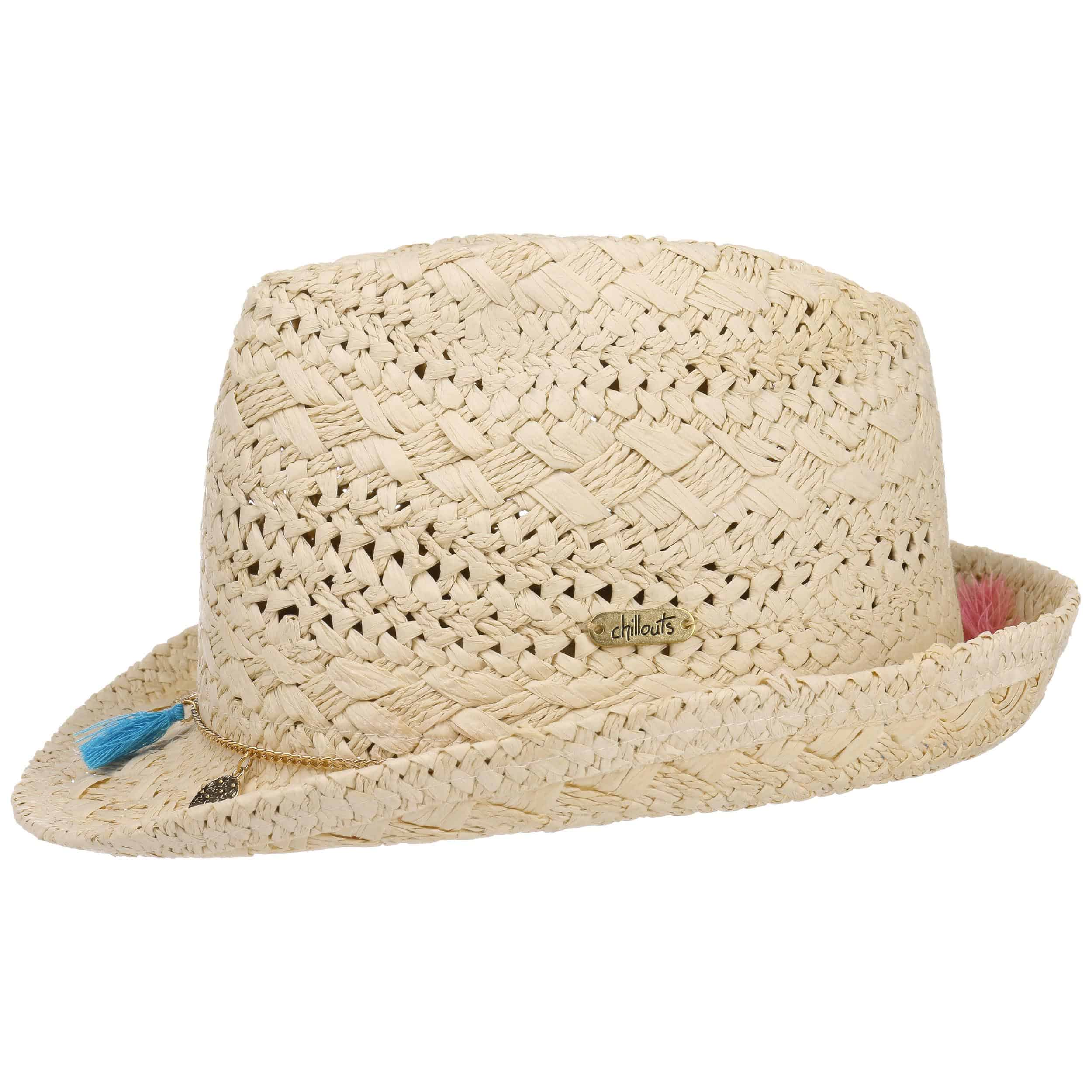 5151e71c063 ... Formosa Trilby Straw Hat by Chillouts - nature-blue 5 ...