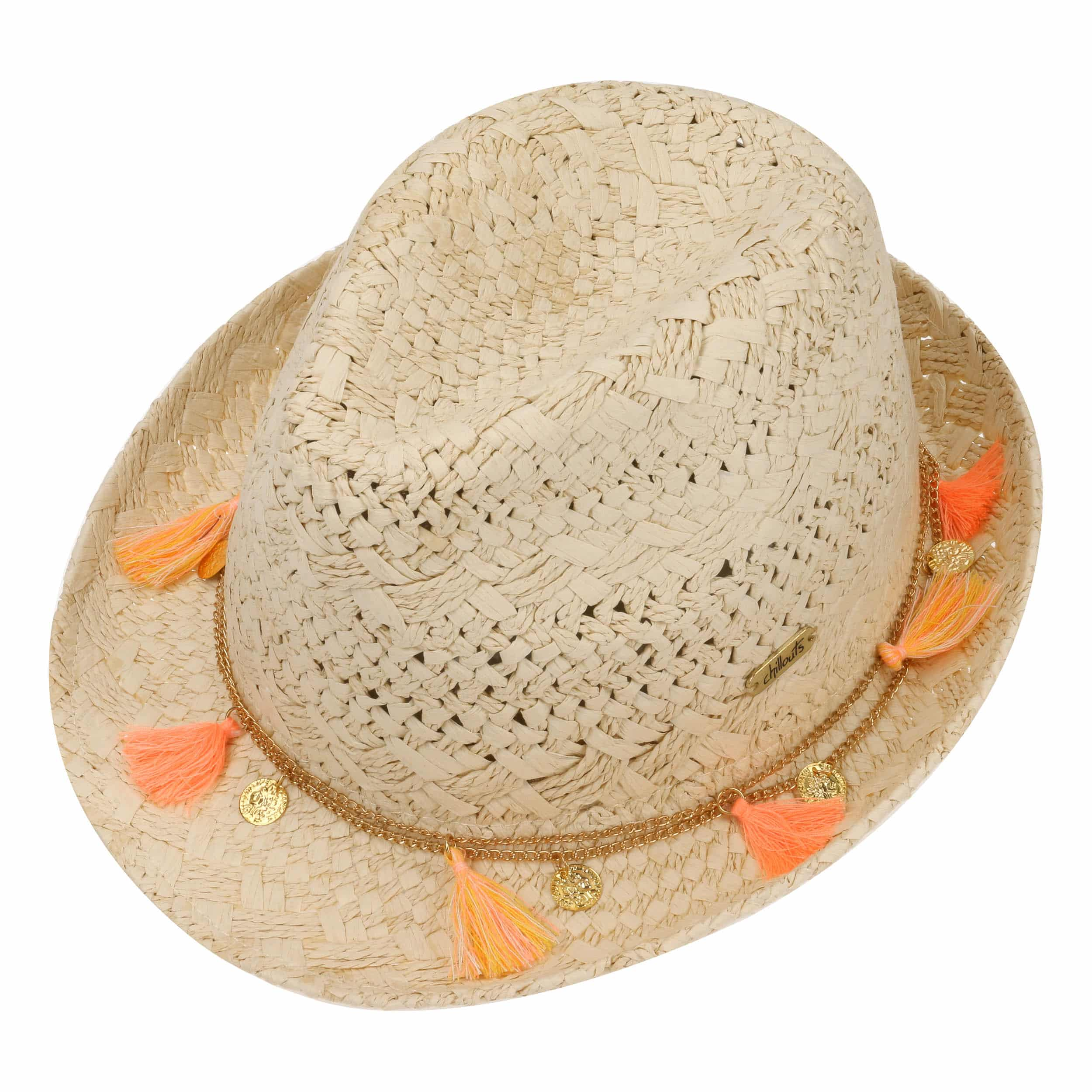 3ad1f676c9b ... Formosa Trilby Straw Hat by Chillouts - nature-pink 1 ...