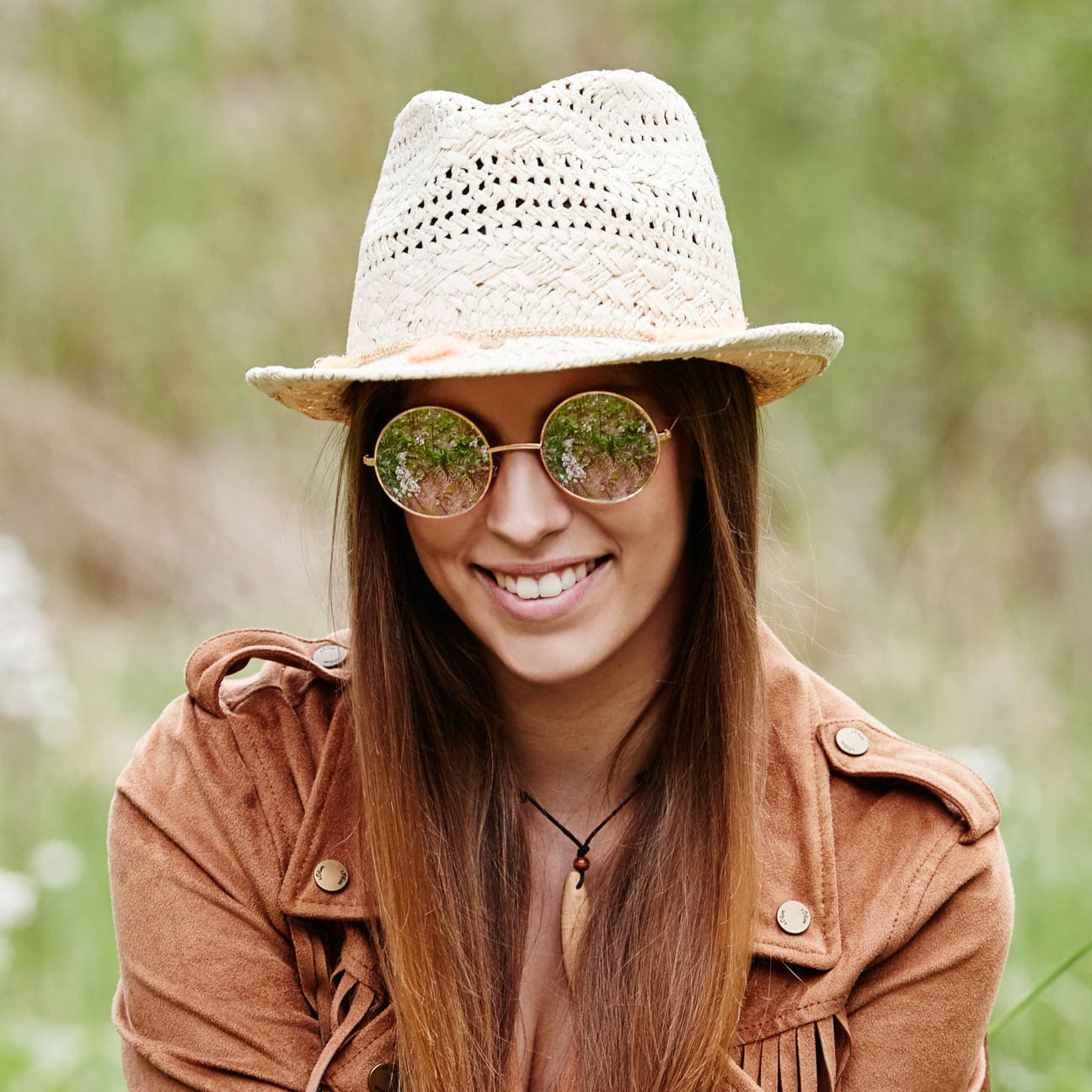 CHILLOUTS Formosa Trilby Straw Hat Summer Sun