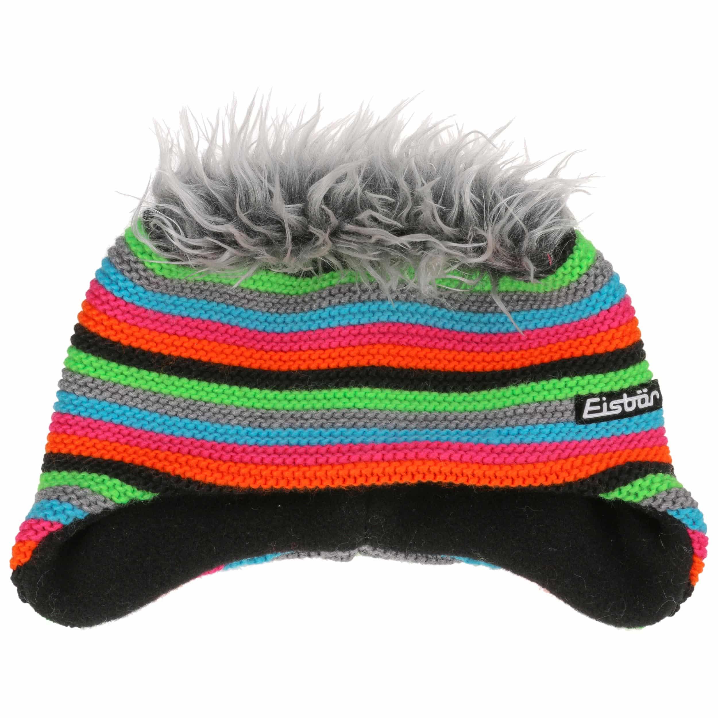 d285566f843 Funky Cocker Knit Hat by Eisbär - black 1 ...