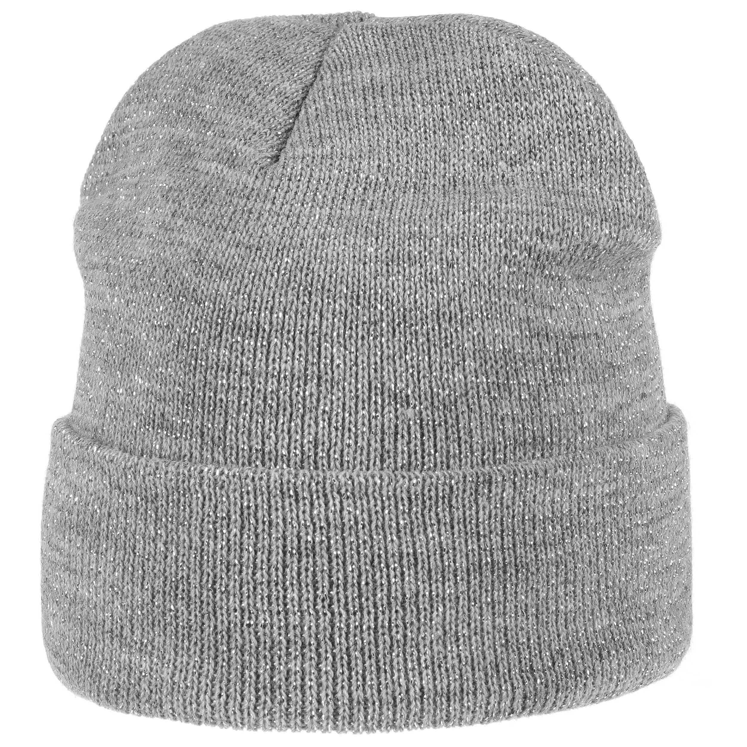 8004680f989da ... Glitter Beanie Hat with Cuff by Lipodo - grey 5 ...