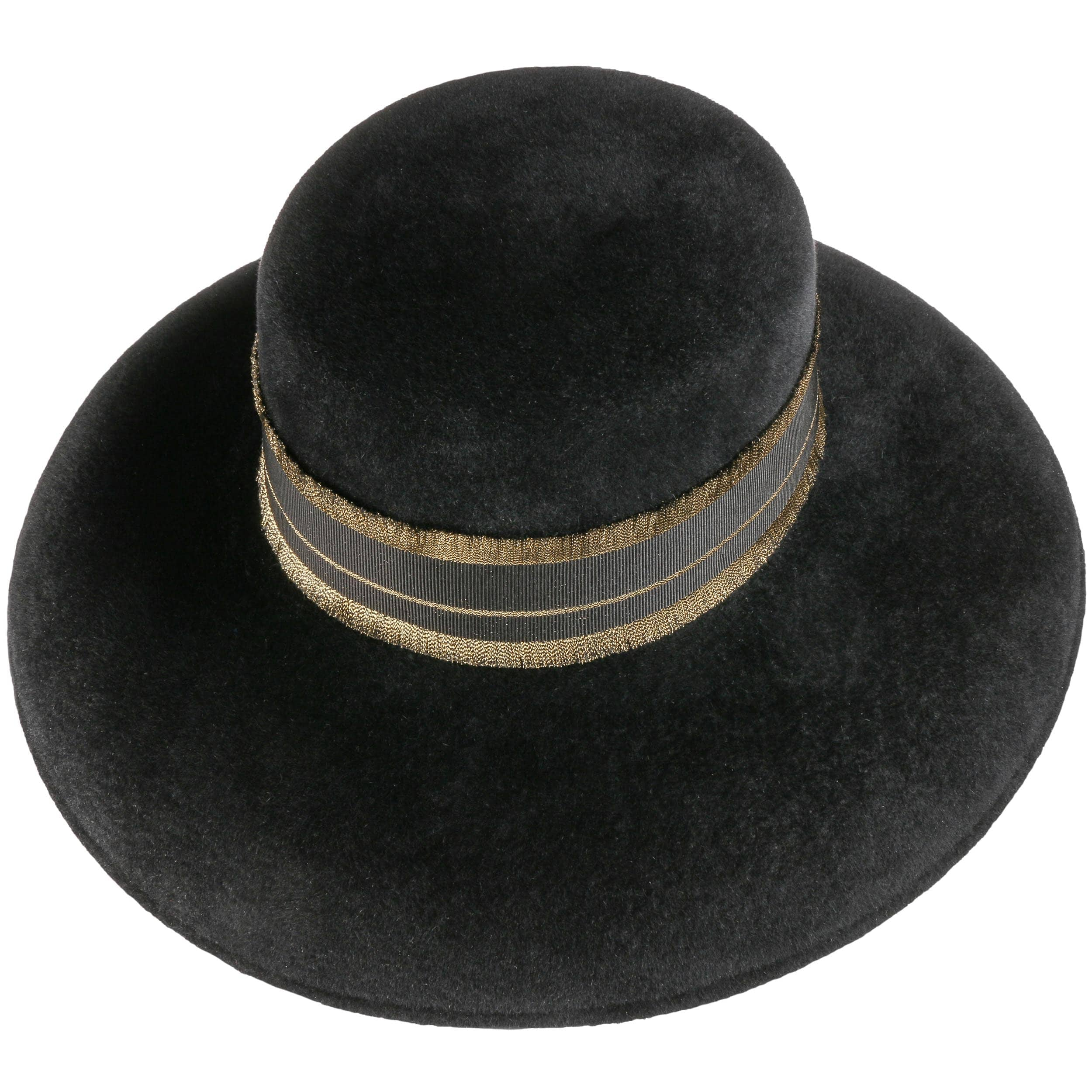 Golden Audrey Fur Felt Hat by Borsalino - black 1 ... 6921a6cfe2f