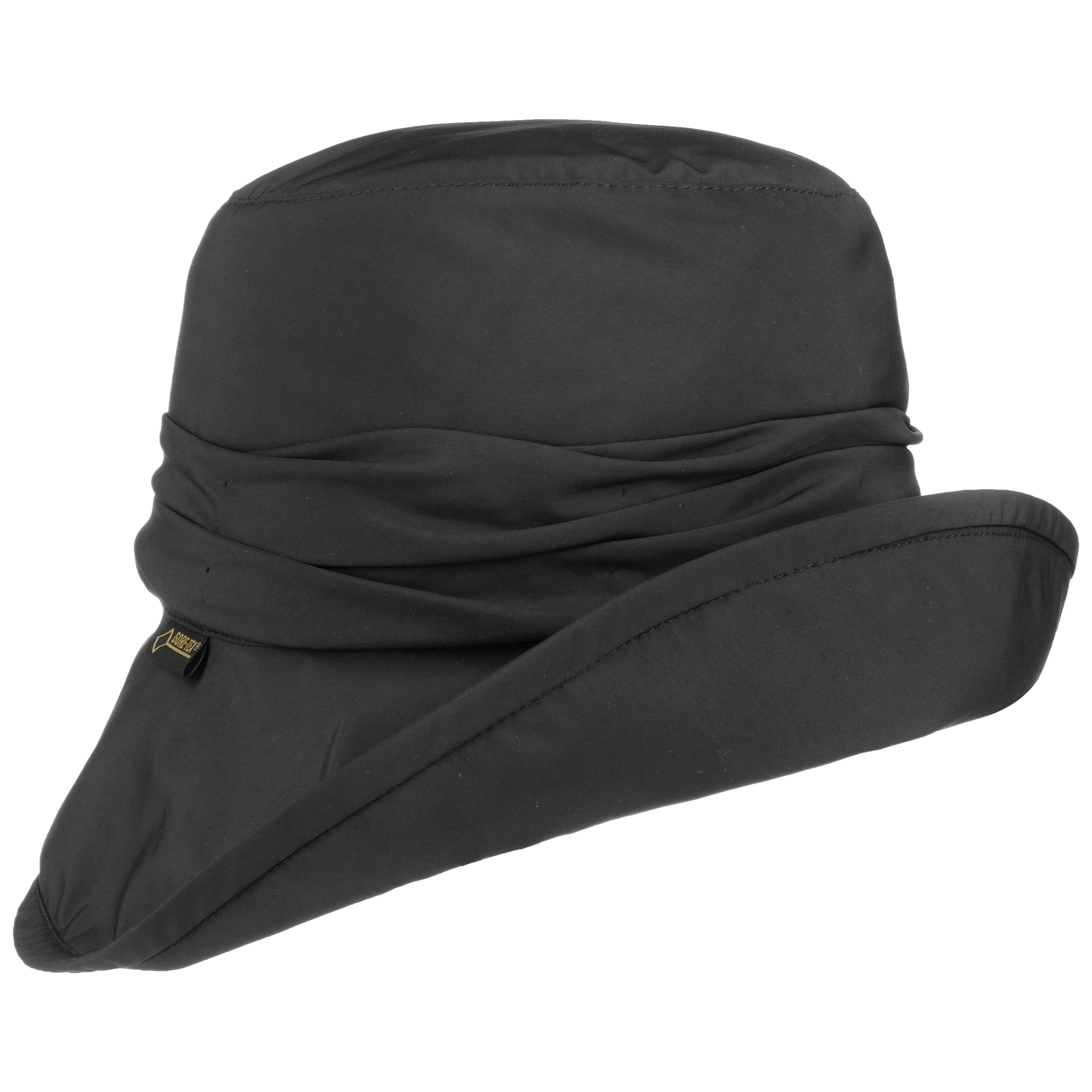 d38efbb3eaa ... Gore-Tex Lined Rain Hat by Seeberger - black 5 ...
