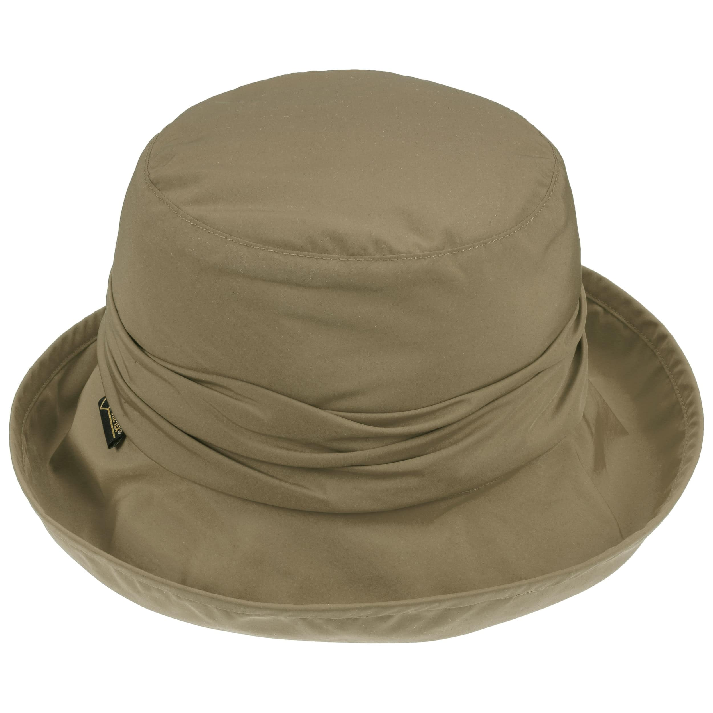 6b5009dc700 ... Gore-Tex Lined Rain Hat by Seeberger - light olive 2 ...