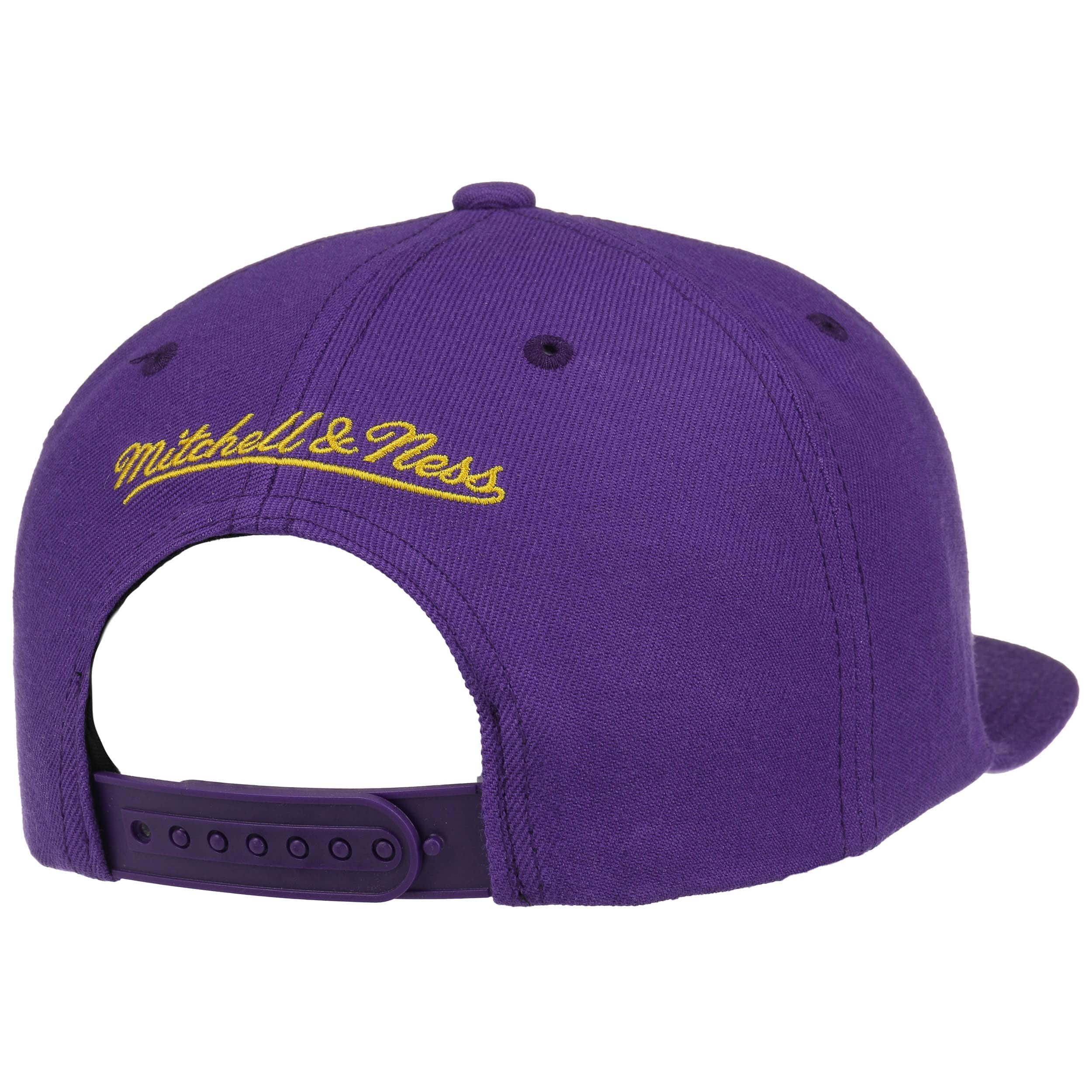 ... Grass Current Lakers Cap by Mitchell   Ness - purple 3 ... 0ab93efd1ef