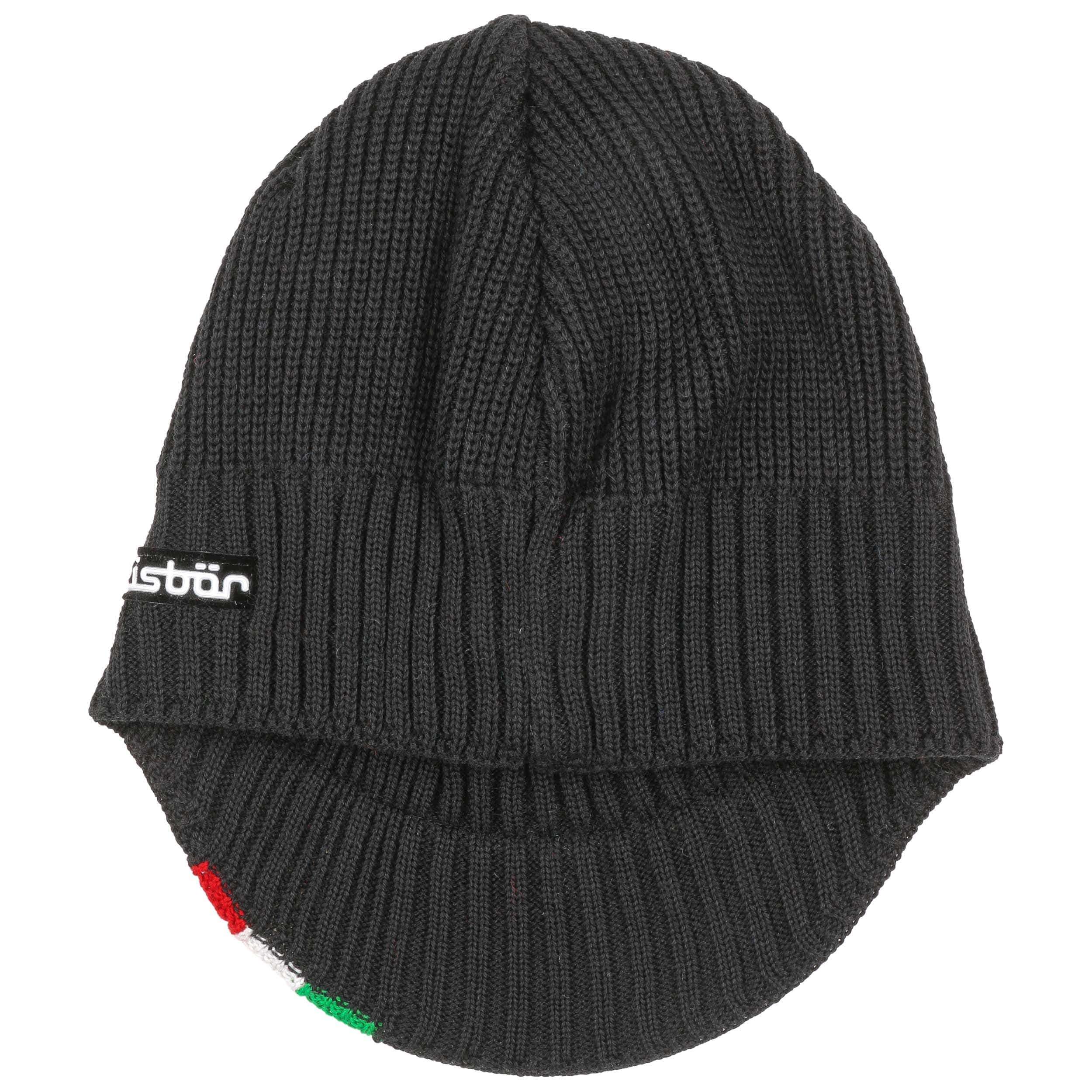 Green-White-Red Ski Cap by Eisbär - black 1 ... 93a5ffbefc2