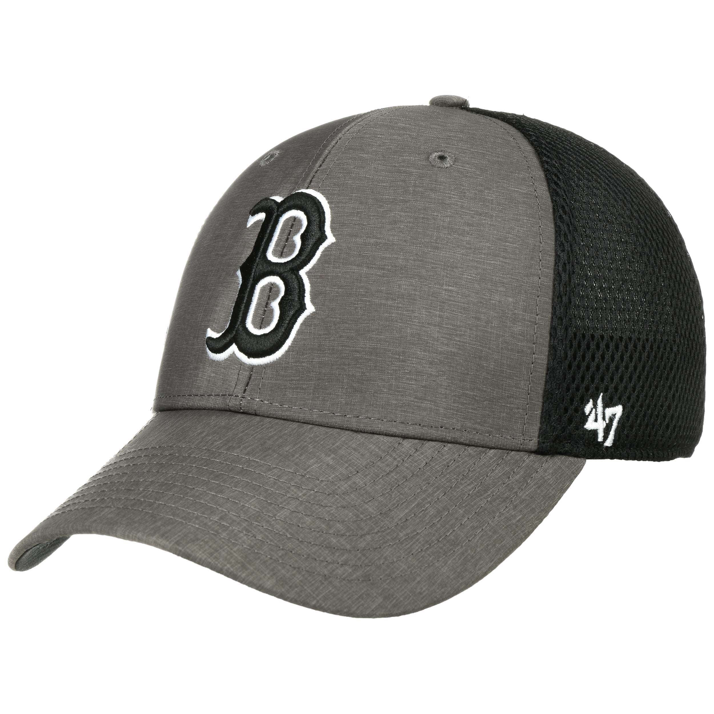 b56d5fe841 Grim Red Sox Trucker Cap by 47 Brand