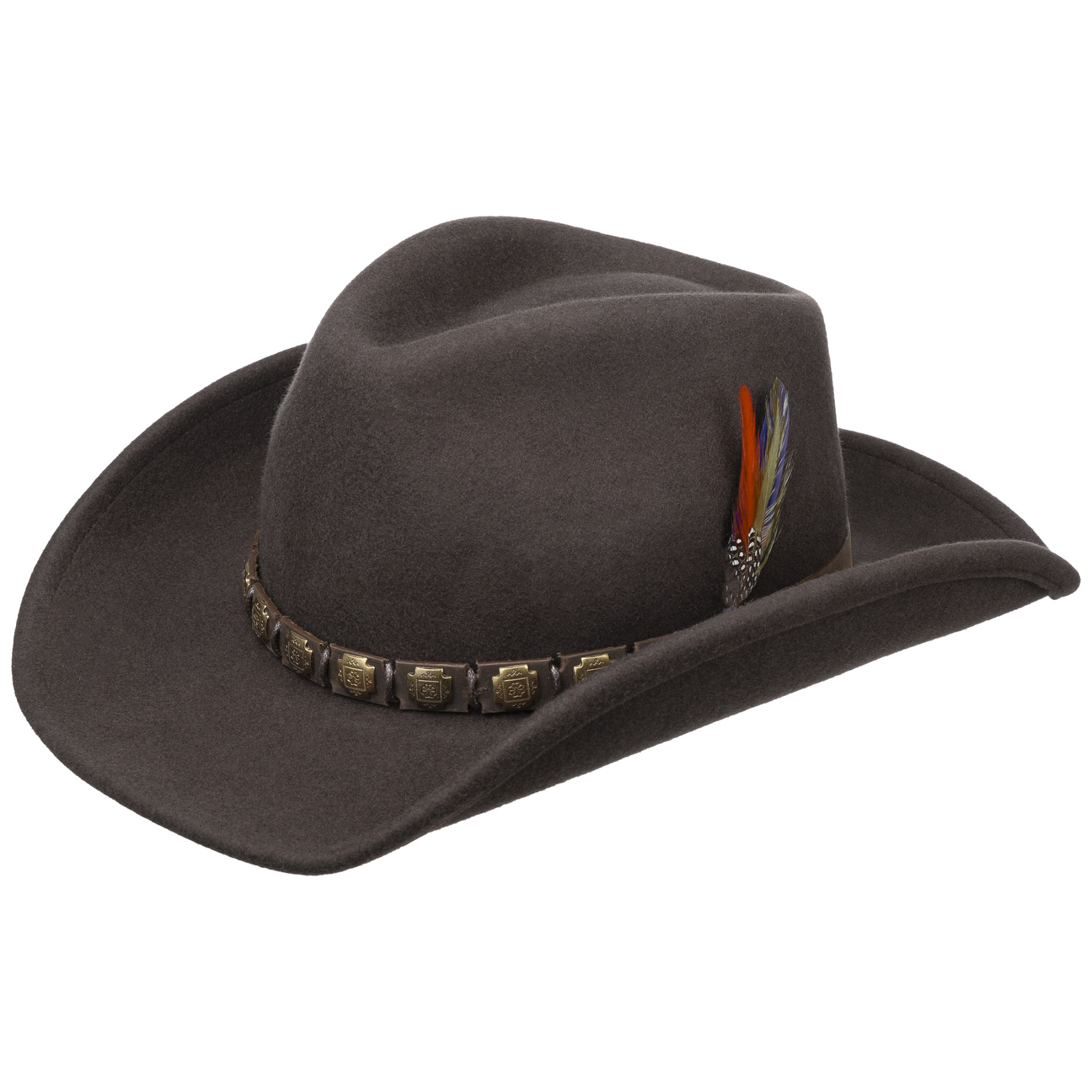 c17eb74adcd1f4 Hackberry Western Hat by Stetson - brown 1 ...