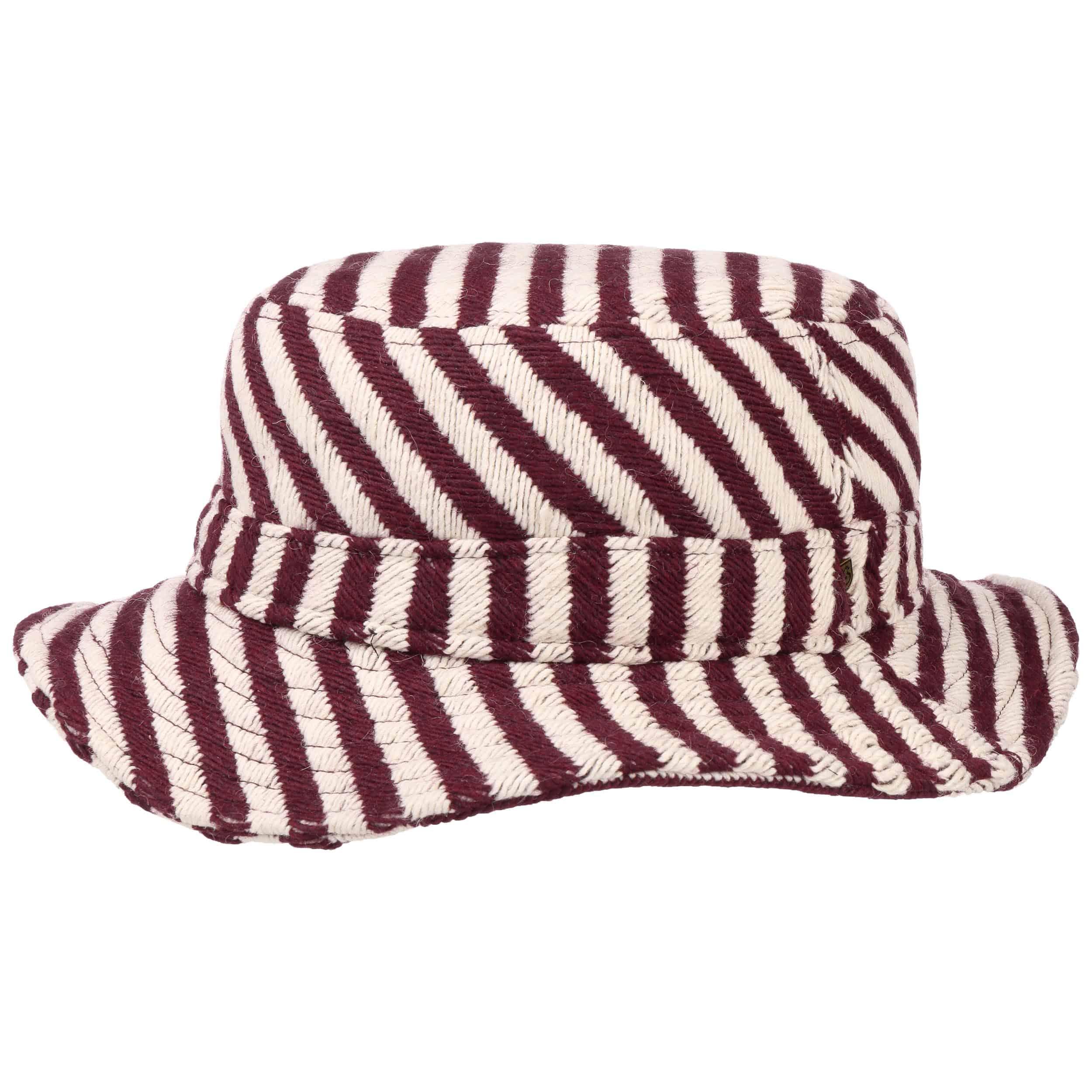 71c0896d9c03c 0b584 3755c  official store hardy stripe womens bucket hat by brixton  bordeaux 4 407db 43dec