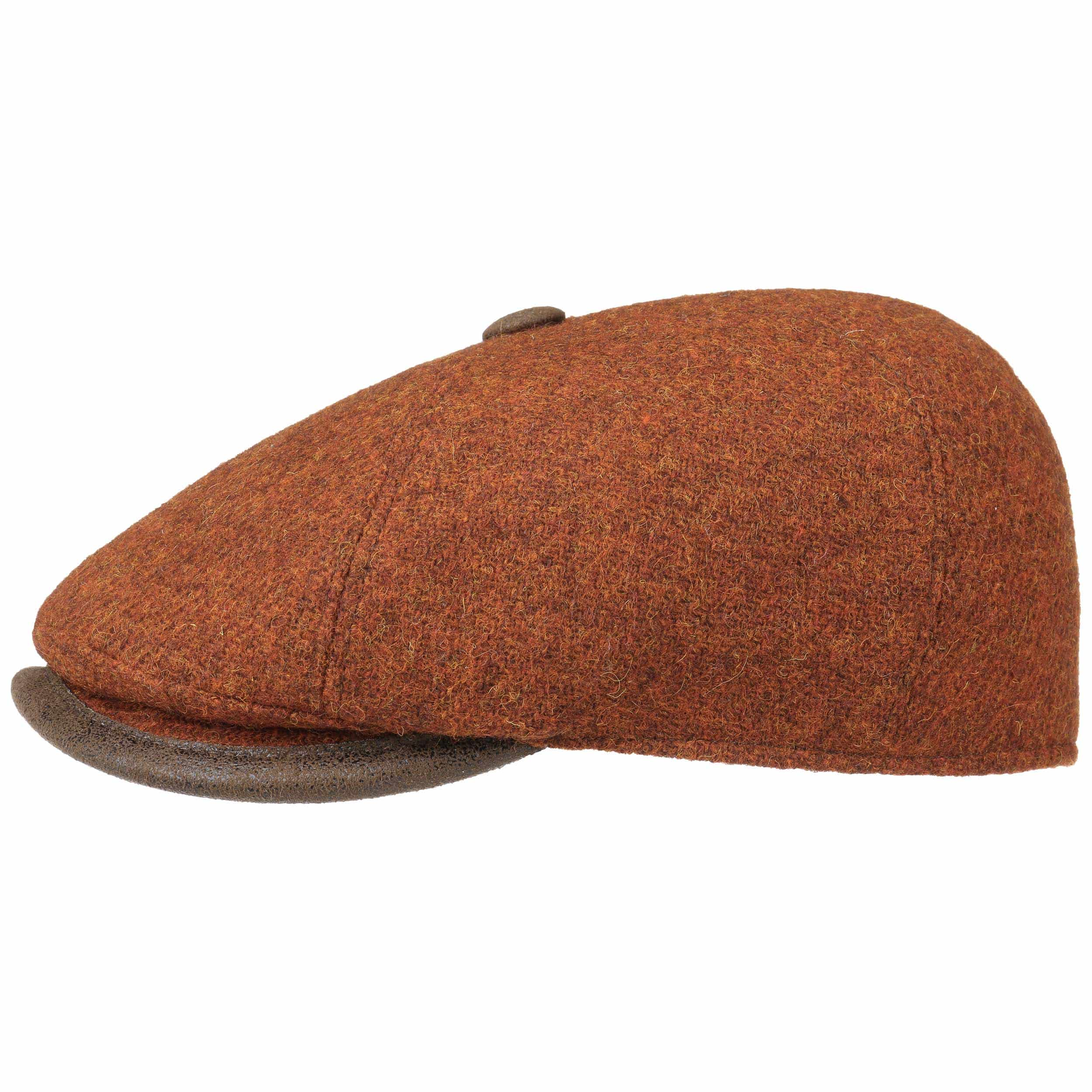 258c92ec9b8 Harris Tweed Flat Cap with Leather by Lierys