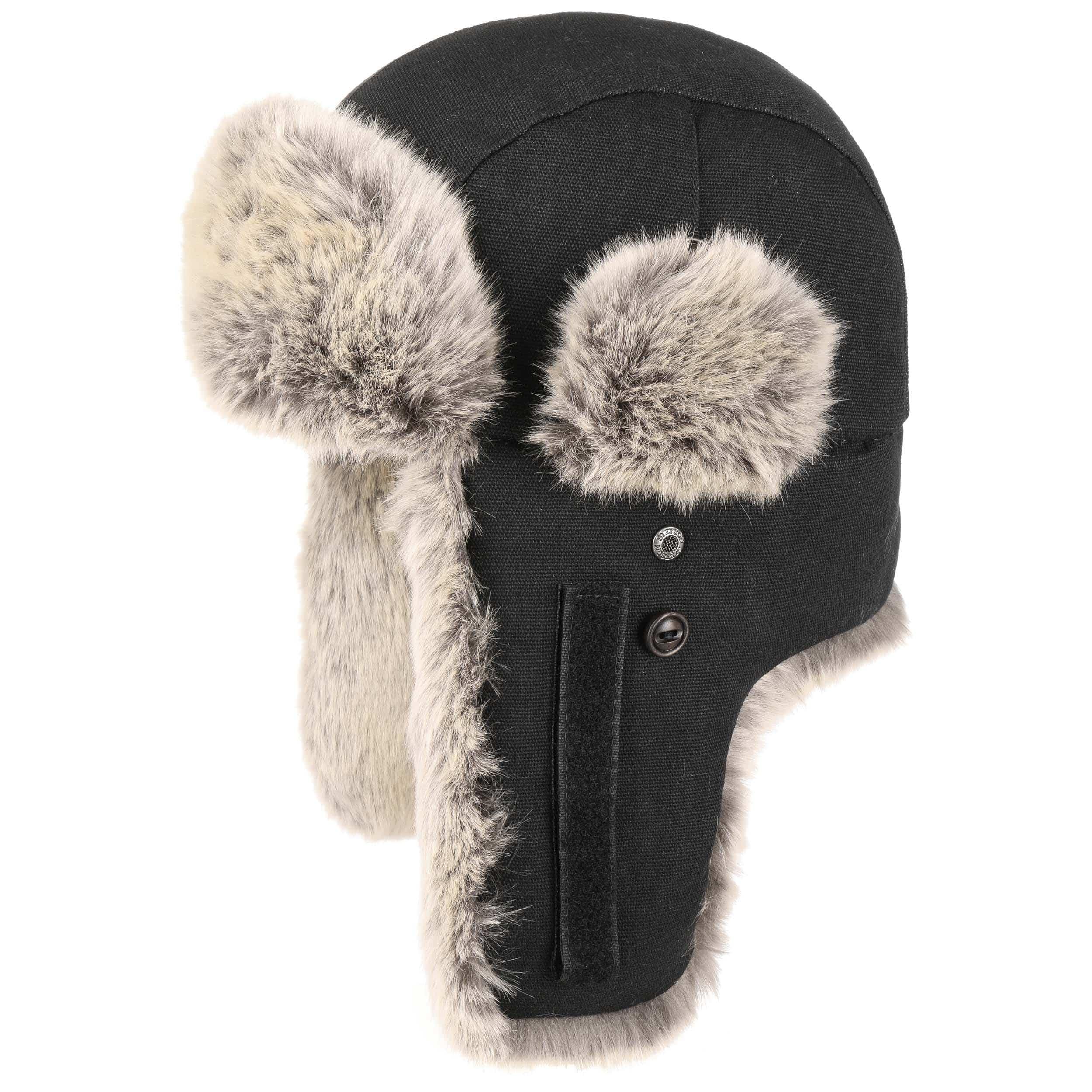 5e14995bf99f0 ... Hatfield Fake Fur Aviator Hat by Stetson - black 9