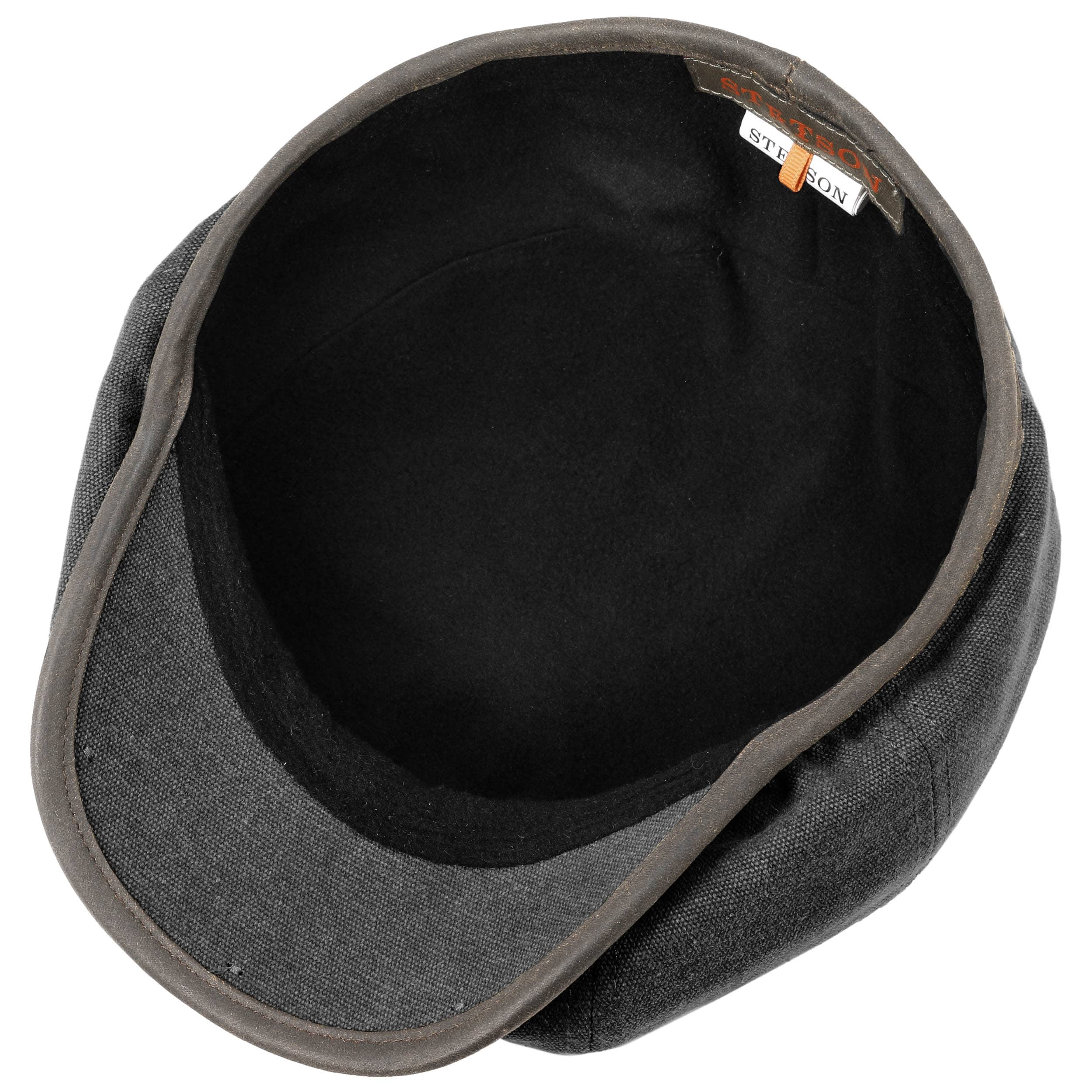 3525a4028 Hatteras Canvas Piping Flat Cap by Stetson