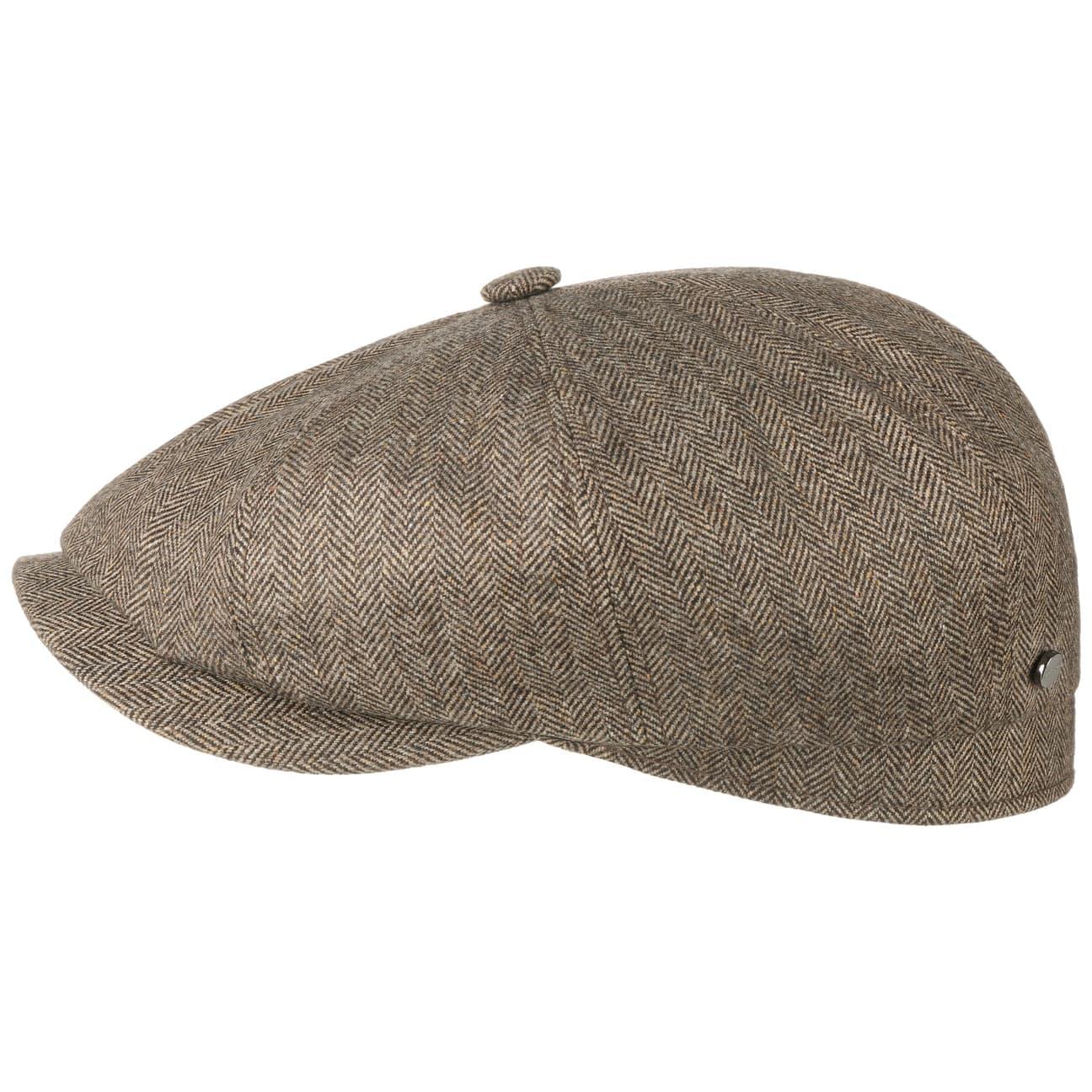 aa7bdf4d ... Hatteras Cashmere Silk Flat Cap by Stetson - brown 1 ...