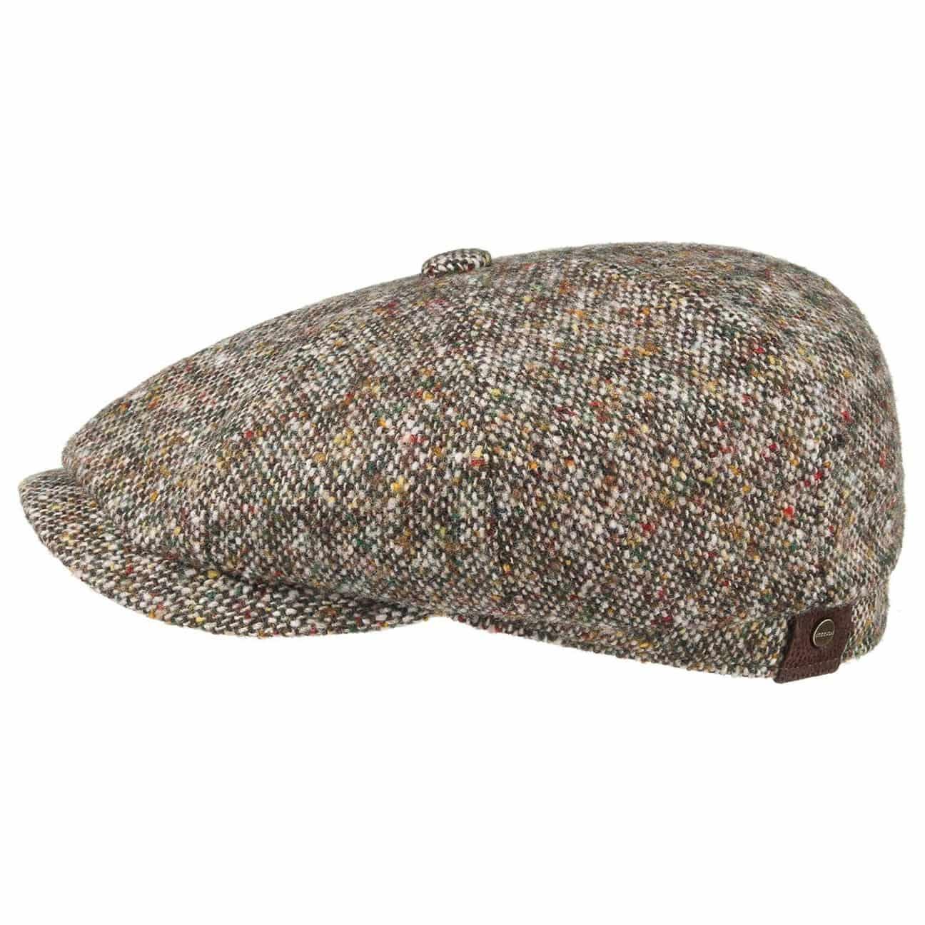 Stetson Baker Boy Cap BROOKLIN 447 Beige Brown Donegal Virgin Wool NEW