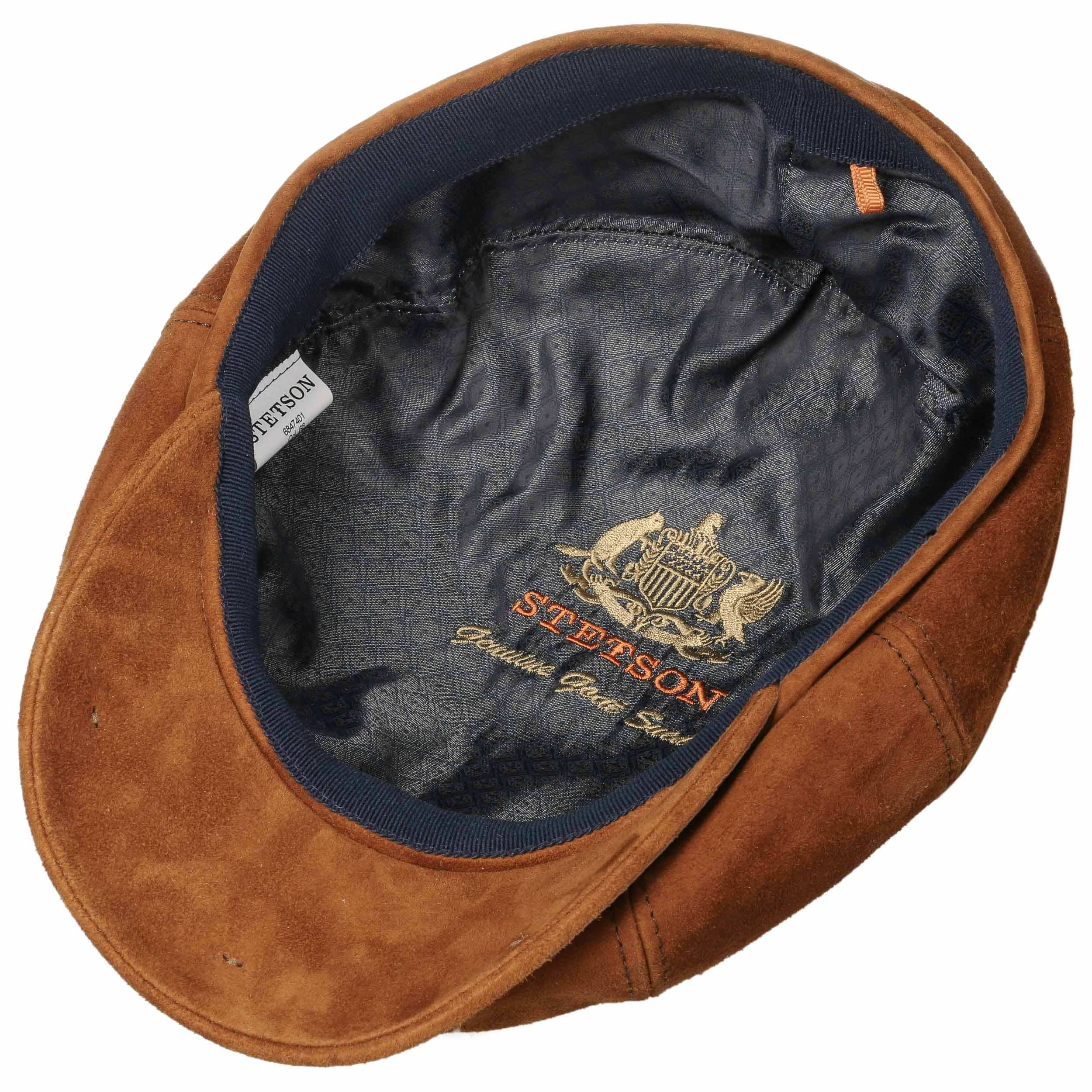 ... Hatteras Goat Suede Flat Cap by Stetson - brown 2 ... b165c4a07aa