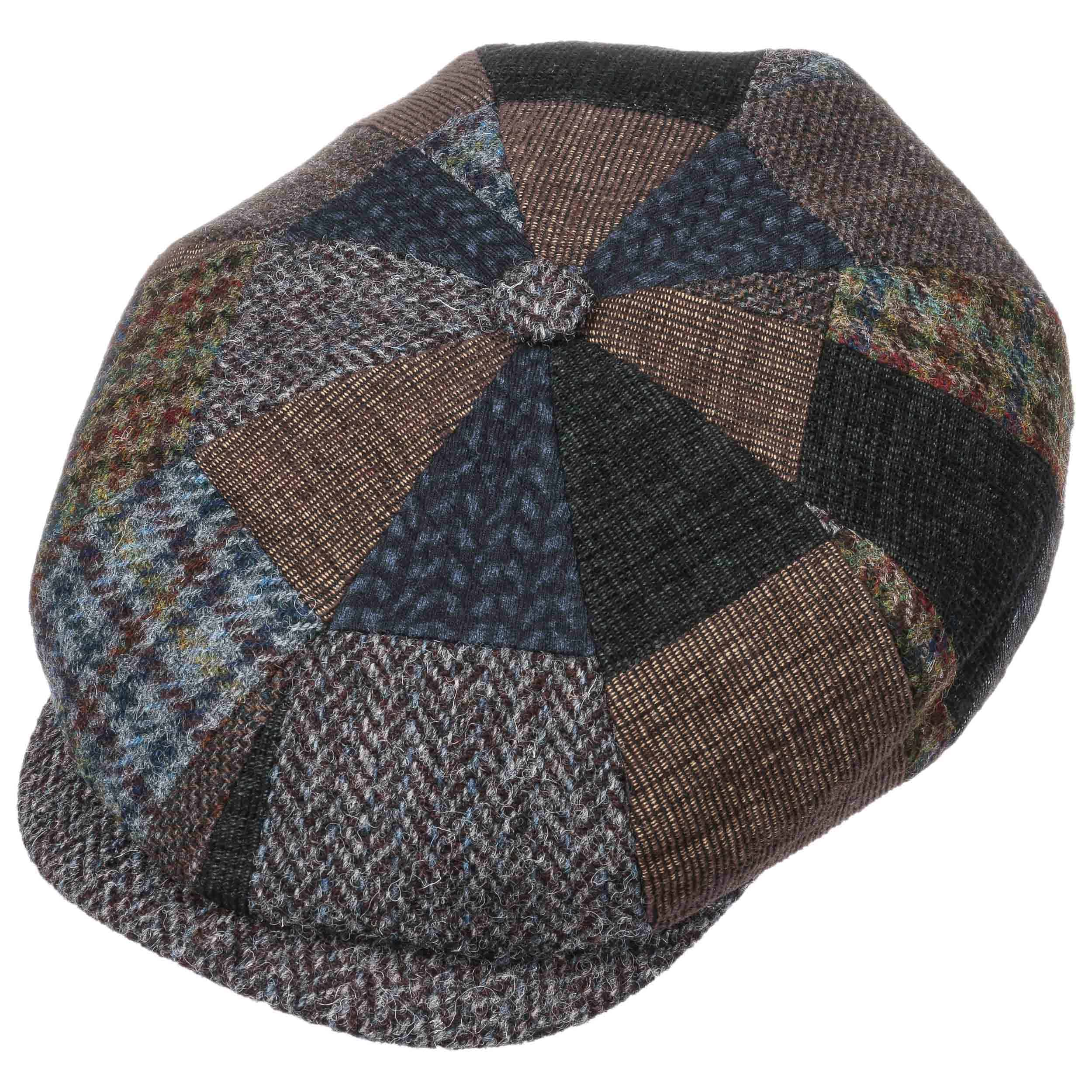7fa379a6 Hatteras Handmade Patchwork Flat Cap by Stetson - brown 1 ...