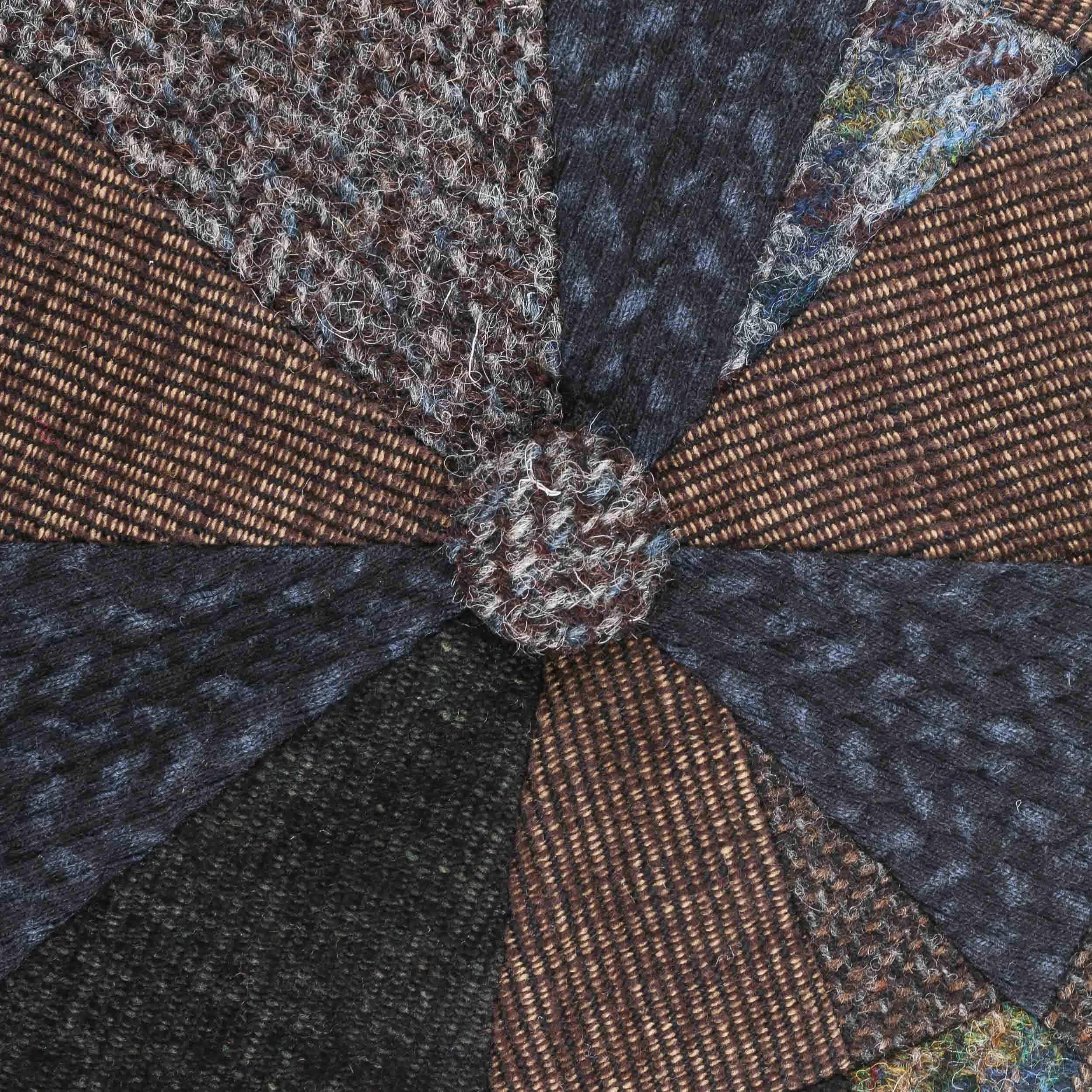 528b7506 ... Hatteras Handmade Patchwork Flat Cap by Stetson - brown 4 ...