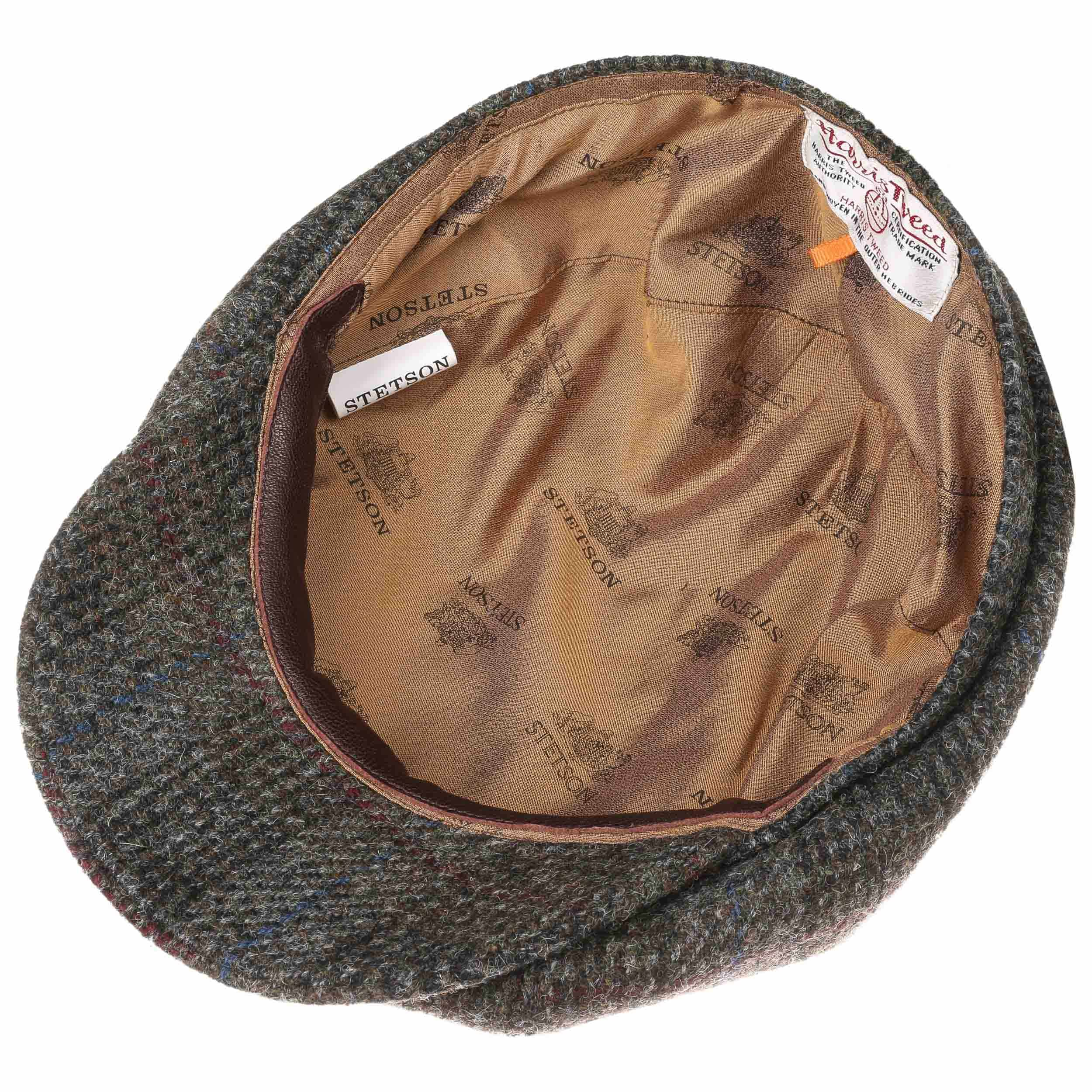 ... Hatteras Harris Tweed Check Flat Cap by Stetson - grey 2 ... e8e807a7fd70