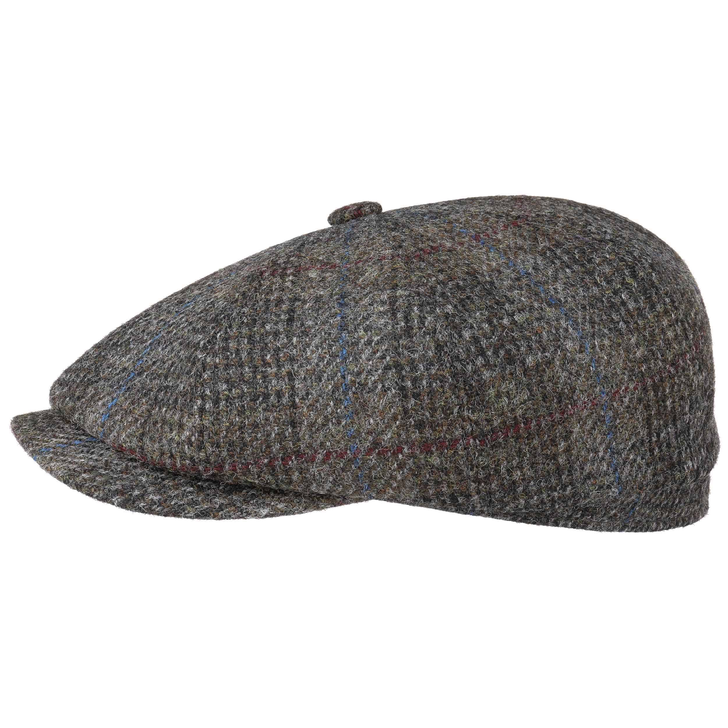 d1fc5bb088a Hatteras Harris Tweed Check Flat Cap by Stetson