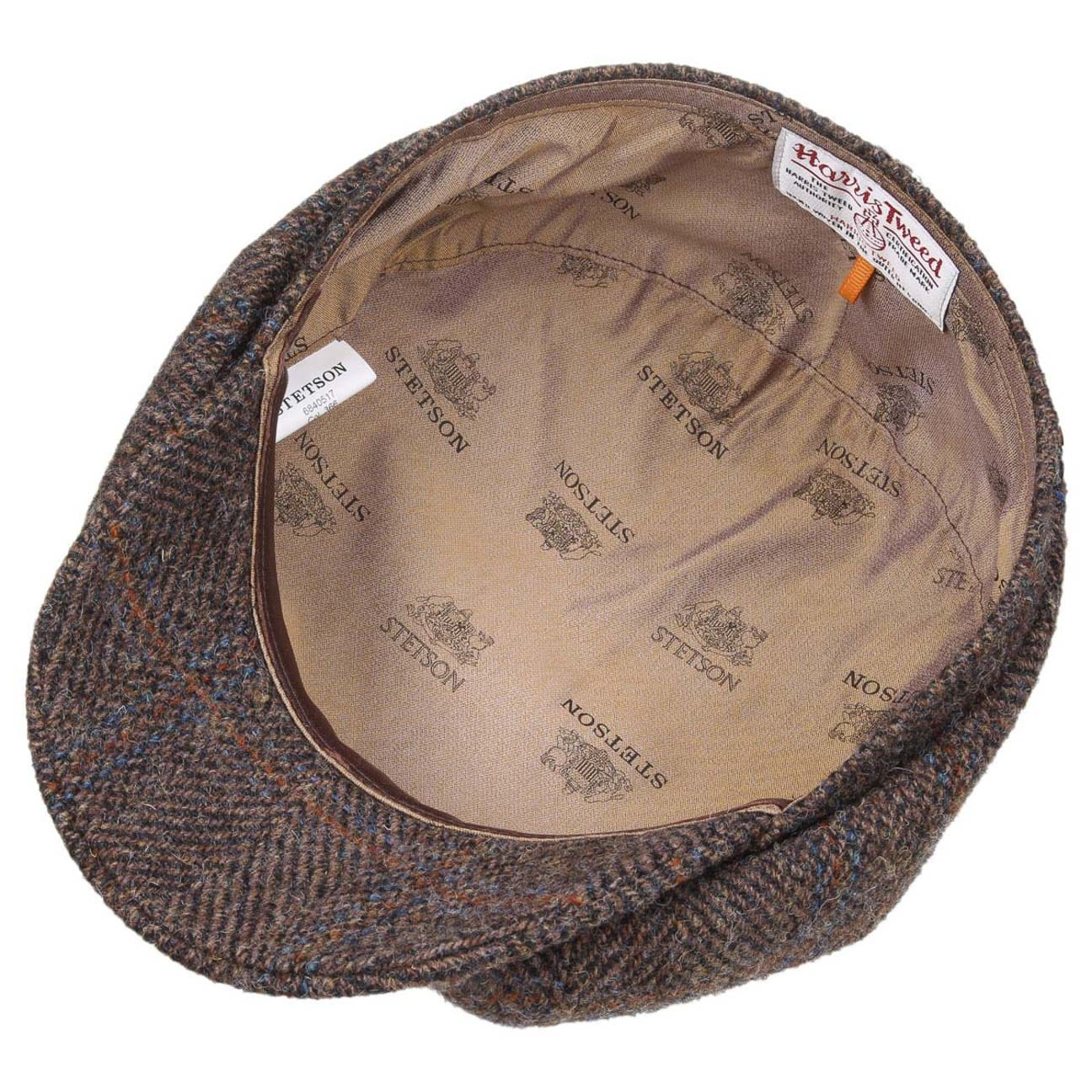 a099ab9bf26978 ... Hatteras Harris Tweed Flat Cap by Stetson - brown 3 ...