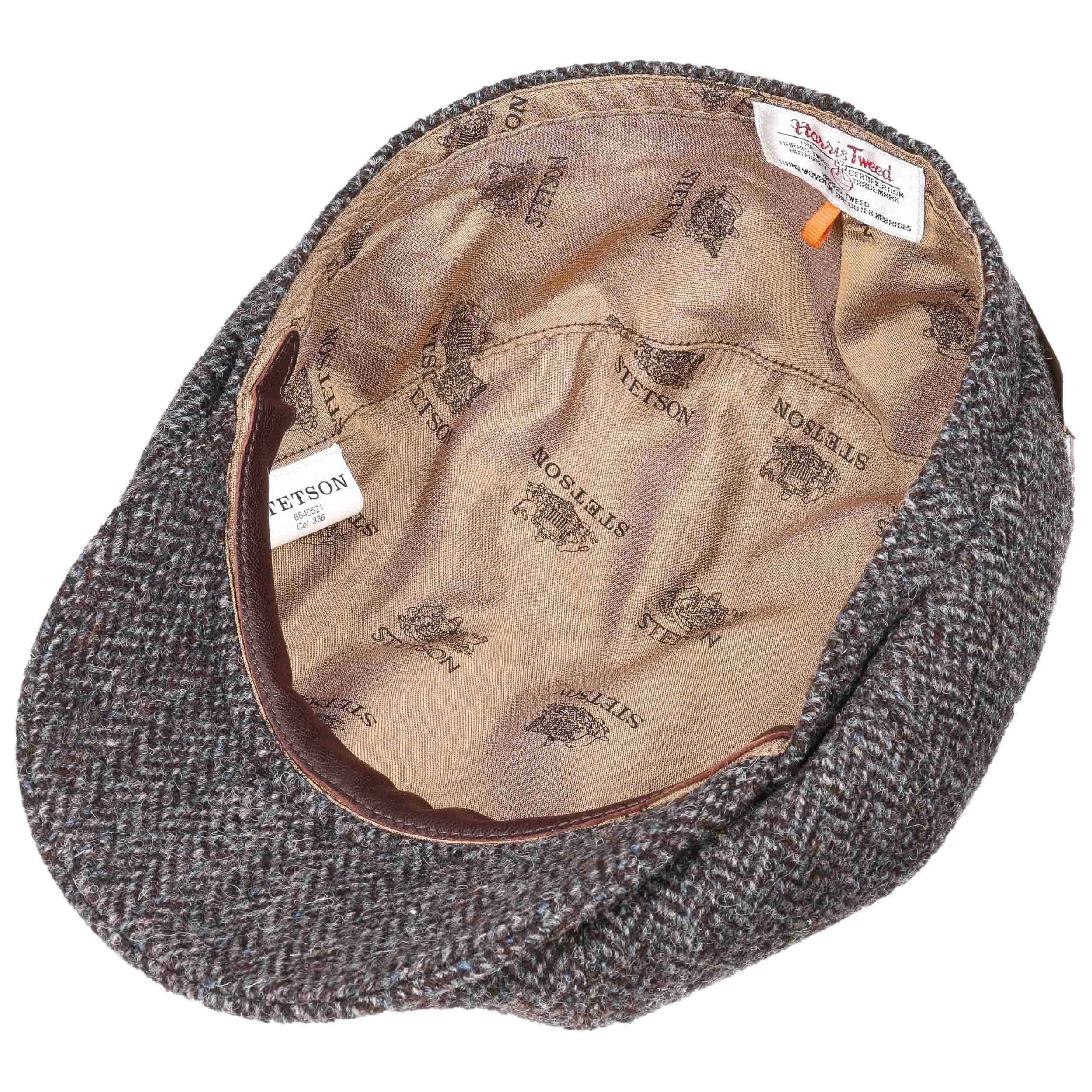 068f45fcd61 ... Hatteras Harris Tweed Newsy Cap by Stetson - brown 2 ...