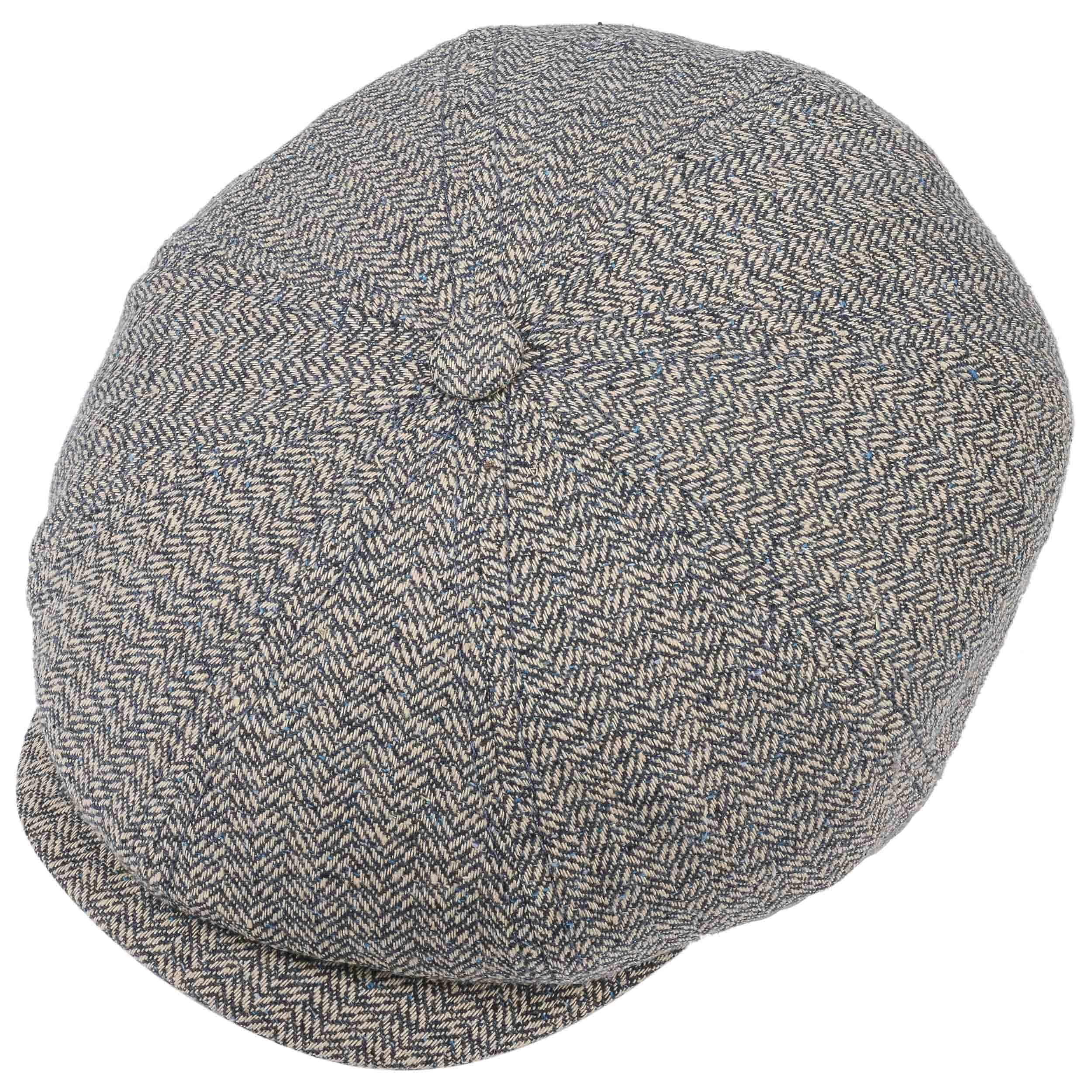 f1001f49 Hatteras Heritage Silk Wool Flat Cap by Stetson - beige-blue 1 ...